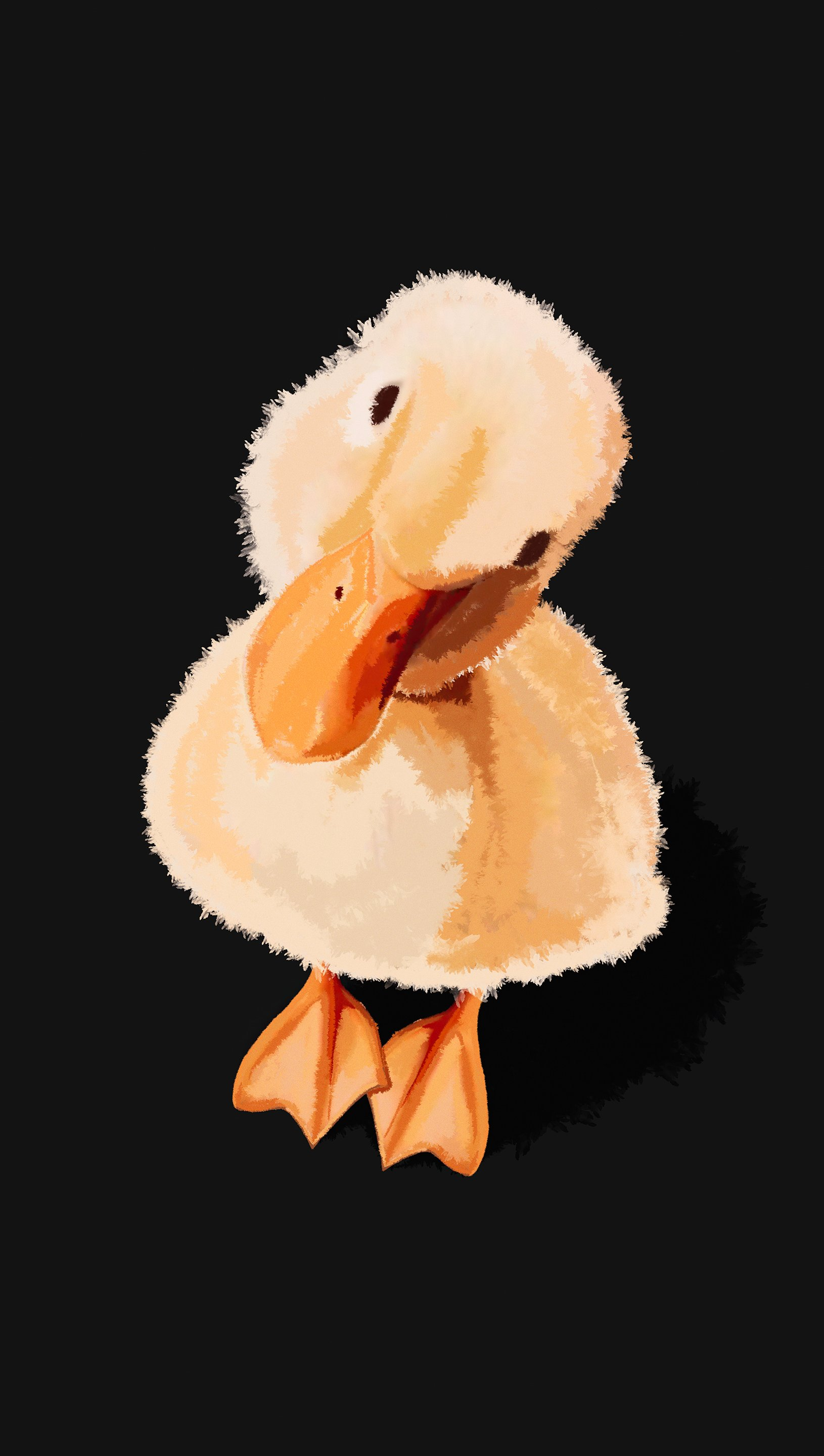 Wallpaper Duckling with tilted head Vertical