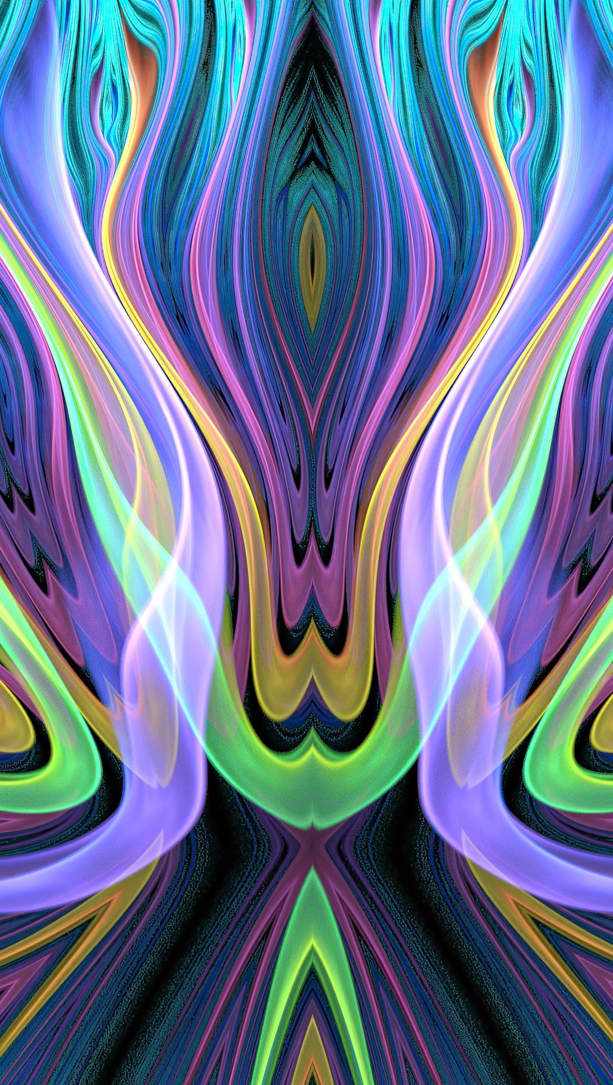 Fondos de pantalla Patrón colorido abstracto Vertical