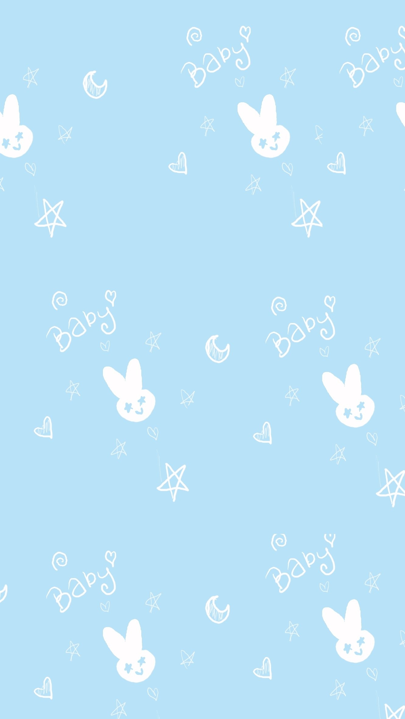 Fondos de pantalla Patrón de conejo arte Vertical