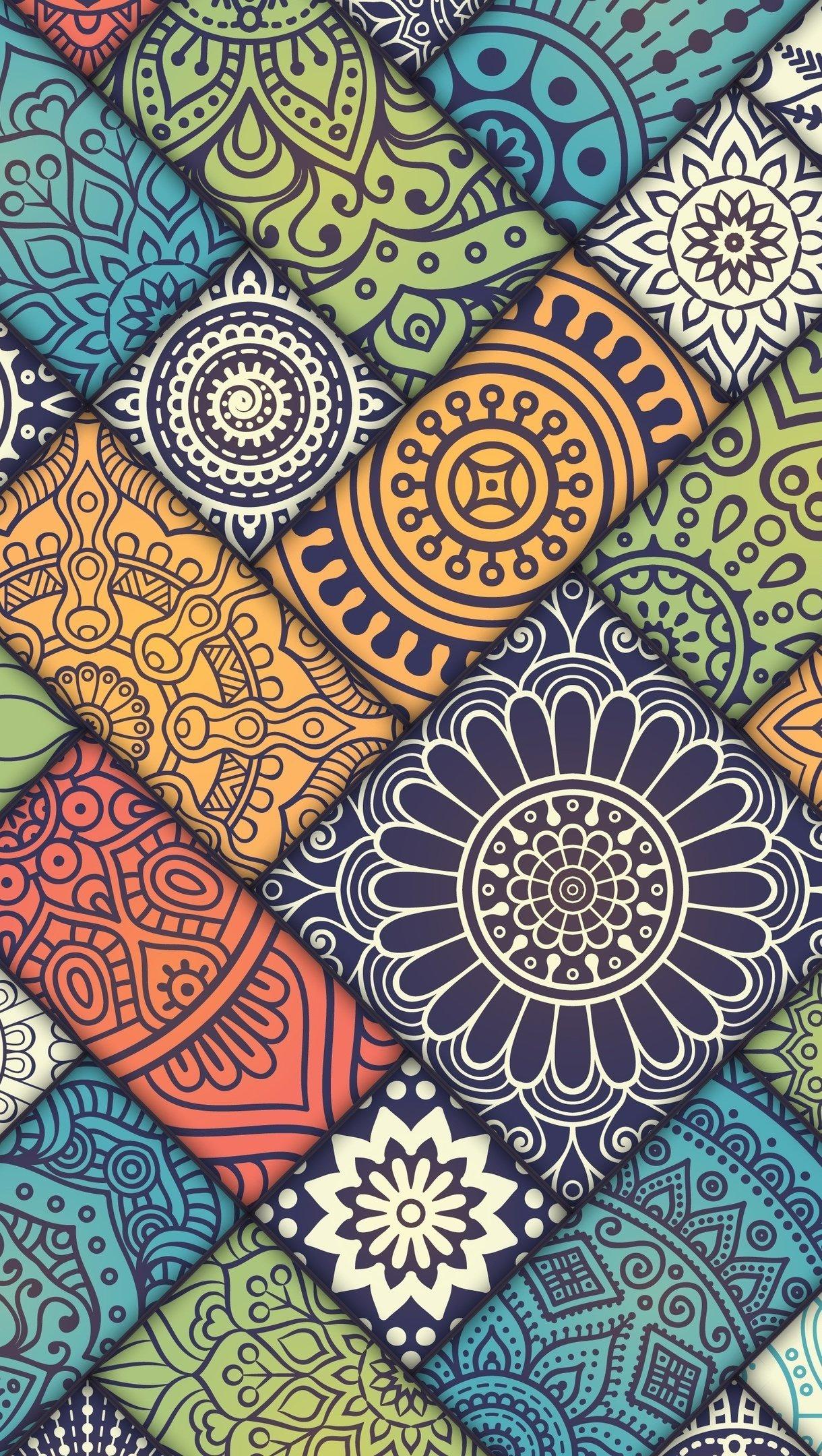 Fondos de pantalla Patrón de Mandala Abstracto Vertical