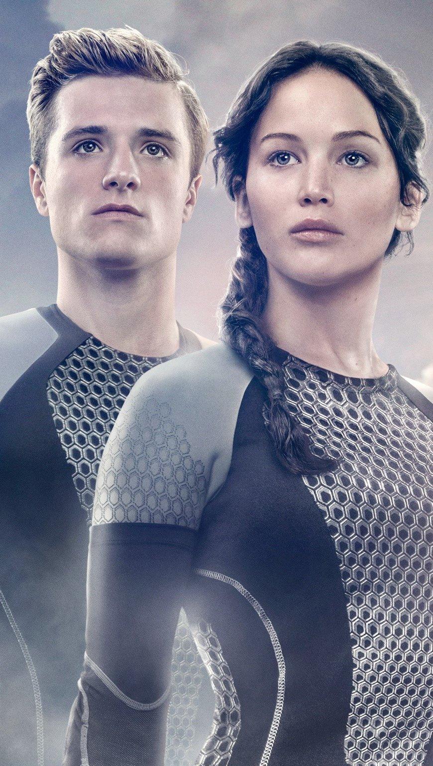 Fondos de pantalla Peeta y Katniss para En llamas Vertical