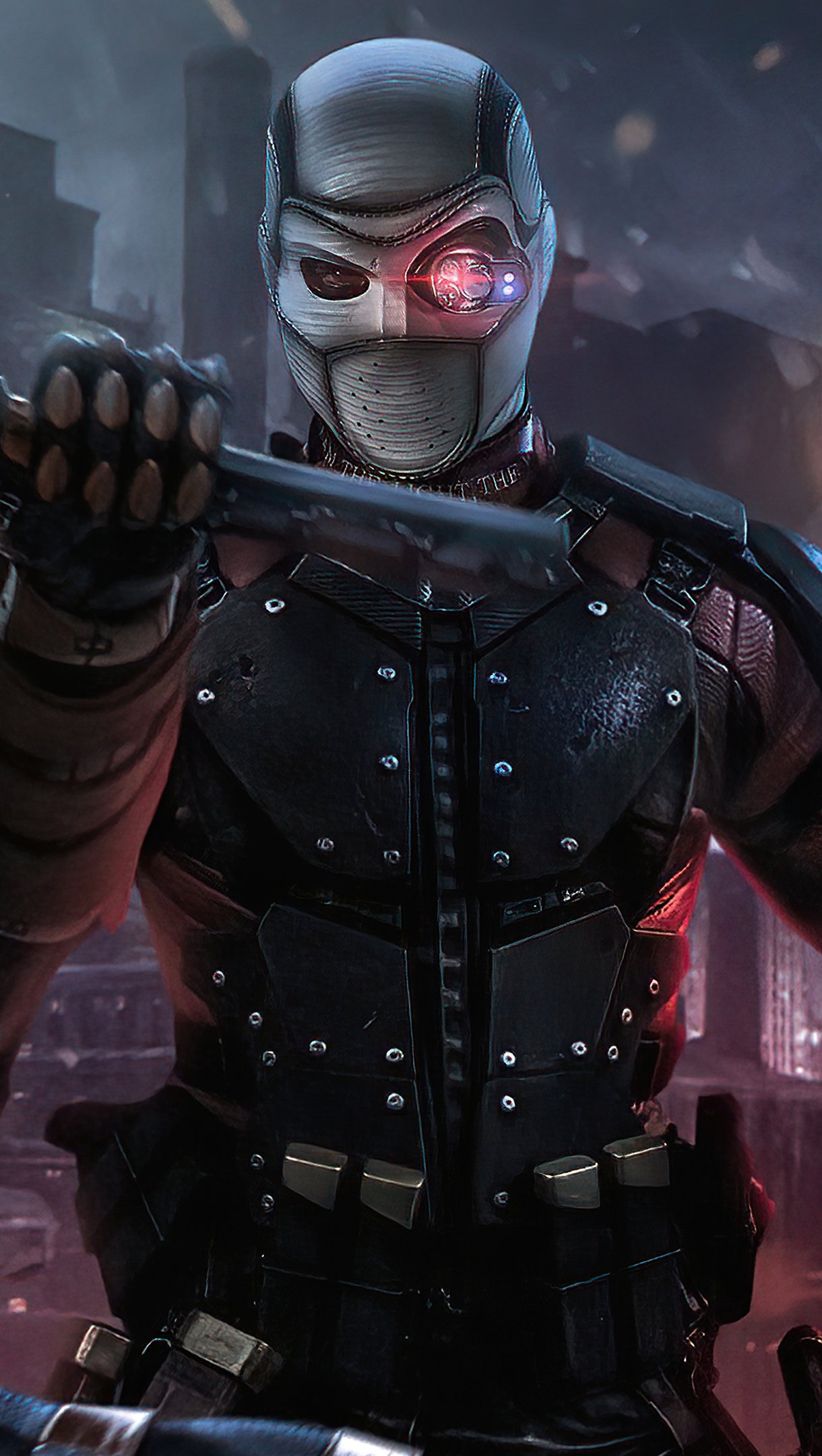 Fondos de pantalla Pelea de Deathstroke vs Deadshot Vertical