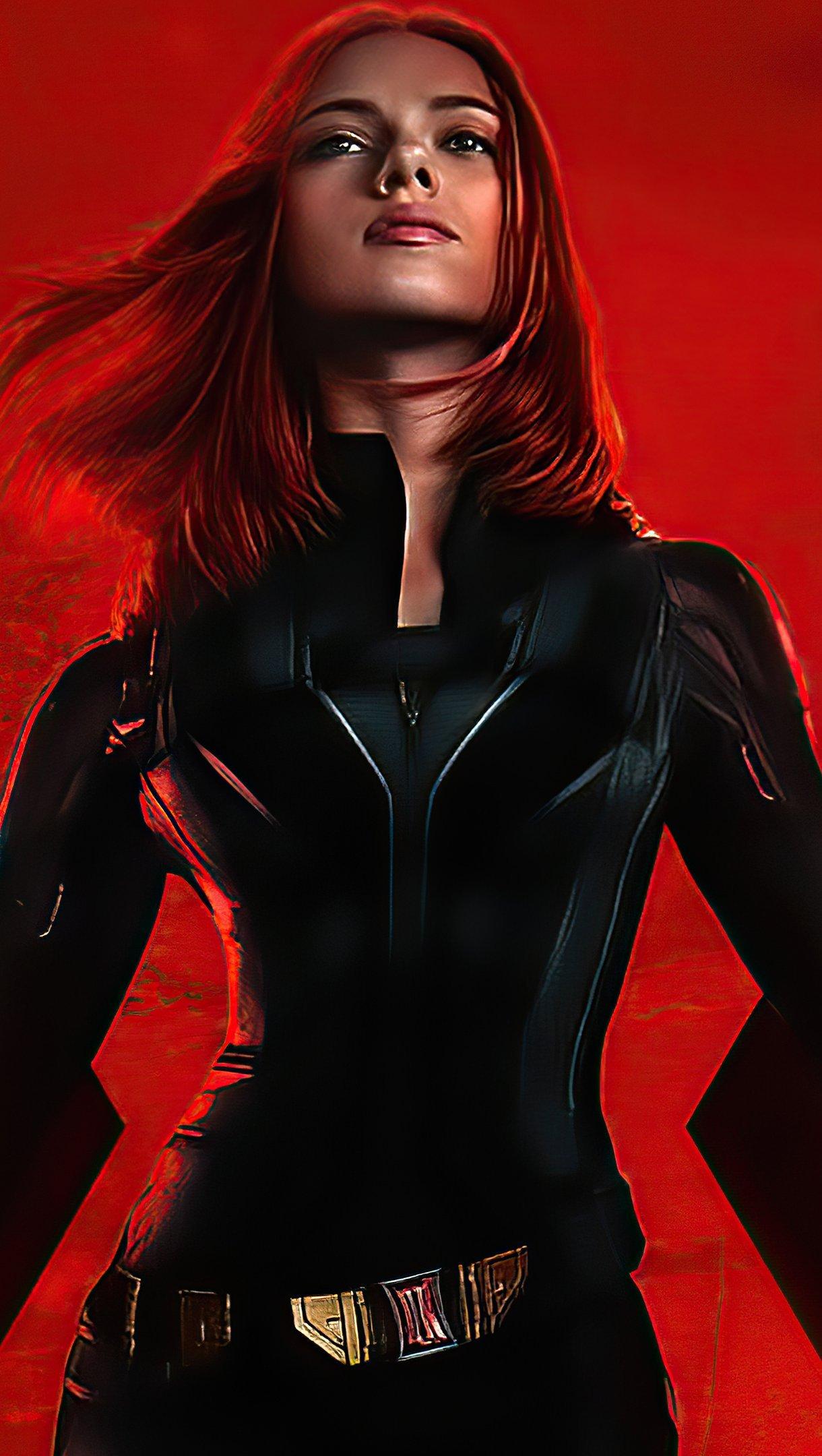 Wallpaper Black Widow Movie Vertical
