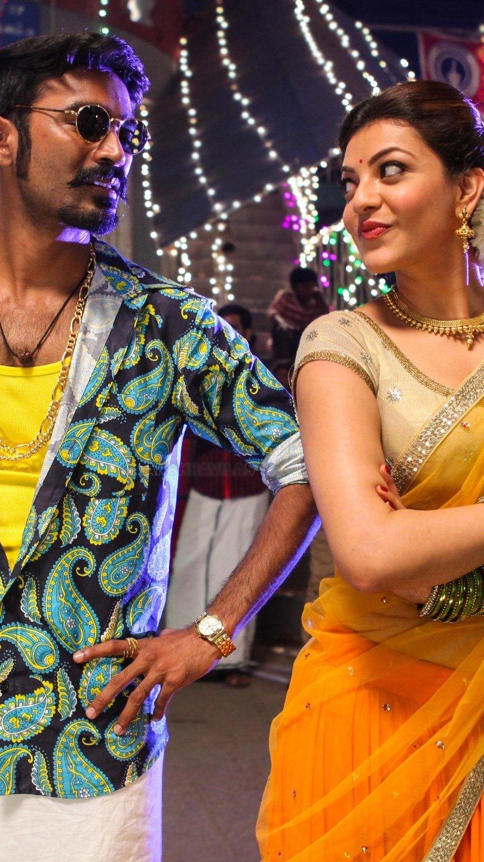 Fondos de pantalla Película de Dhanush Kajal y Marri Tamil Vertical
