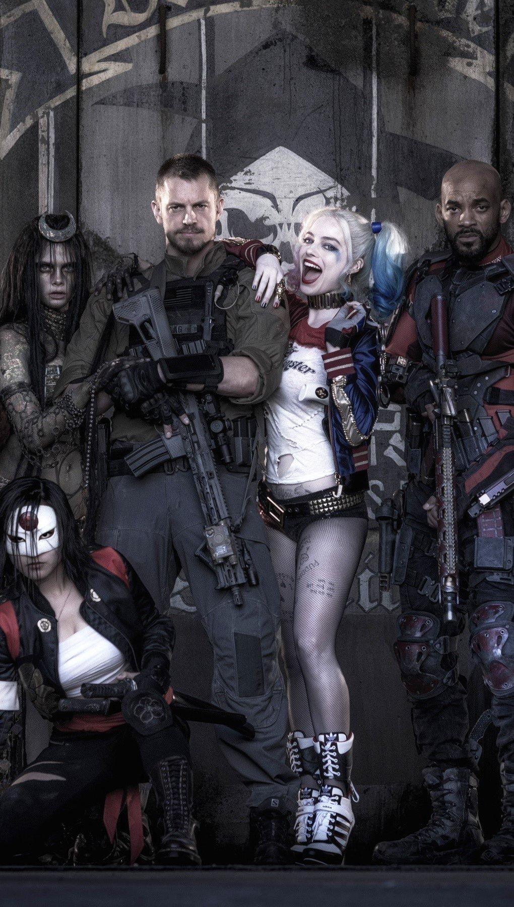 Wallpaper Suicide Squad Movie Vertical