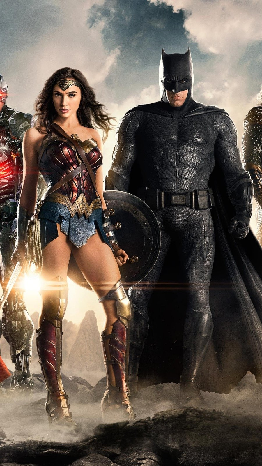 Wallpaper Justice League movie Vertical