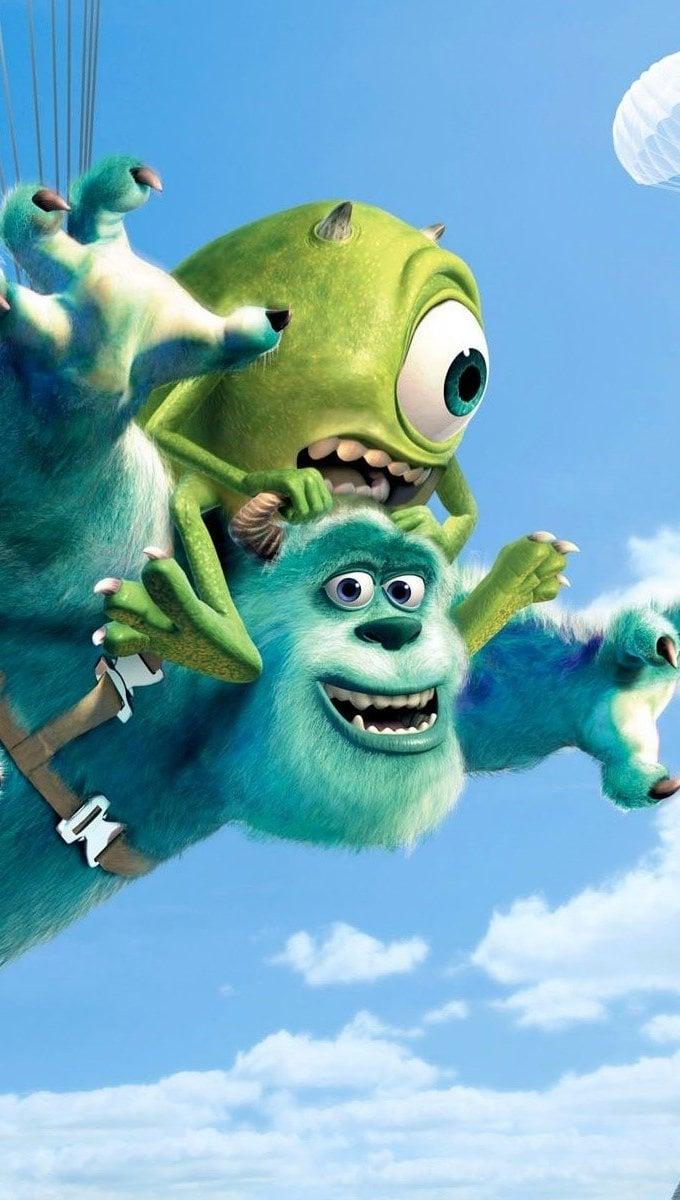 Wallpaper Pixar movies in parachutes Vertical
