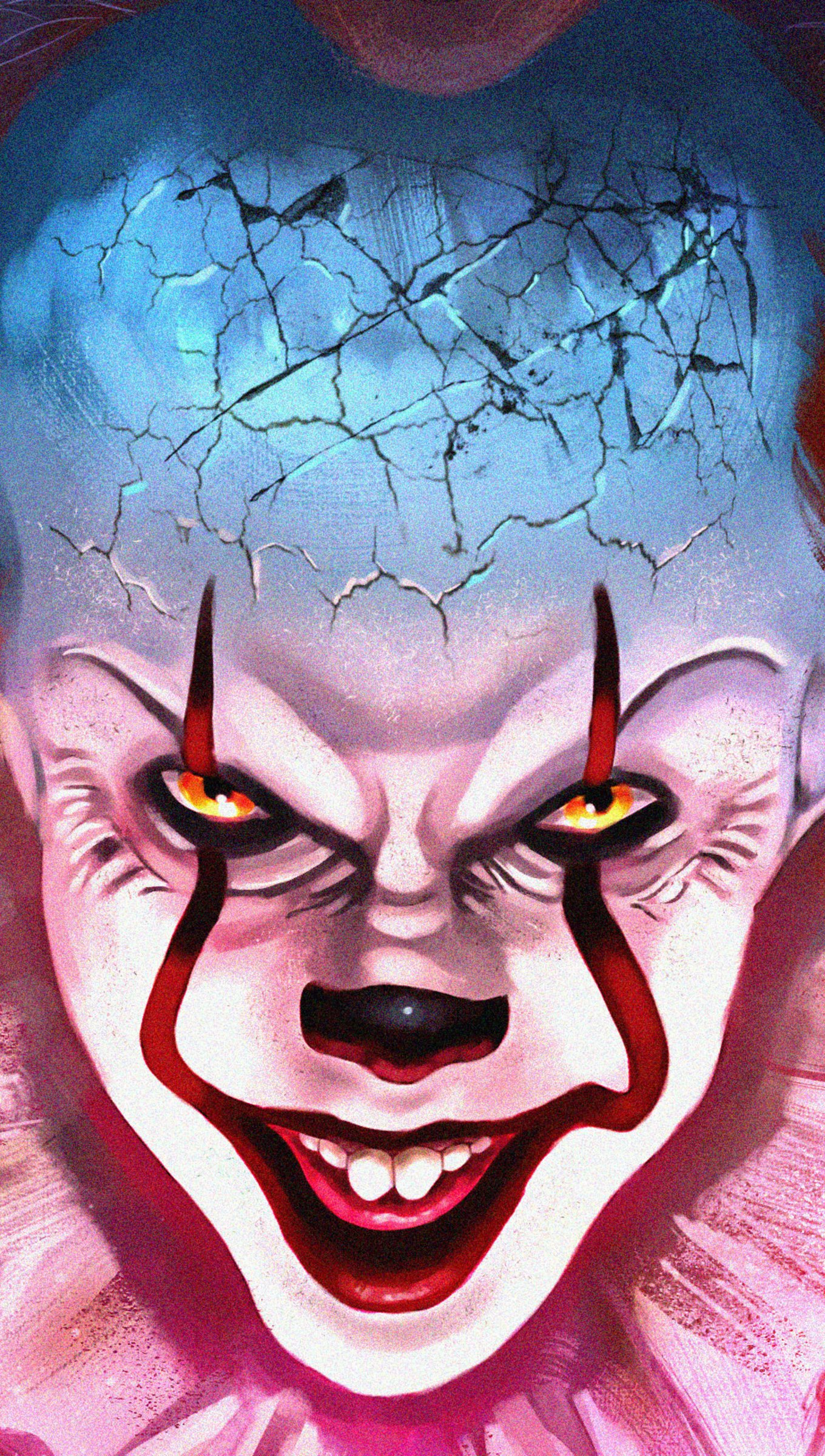 Wallpaper Pennywise Fanart Vertical