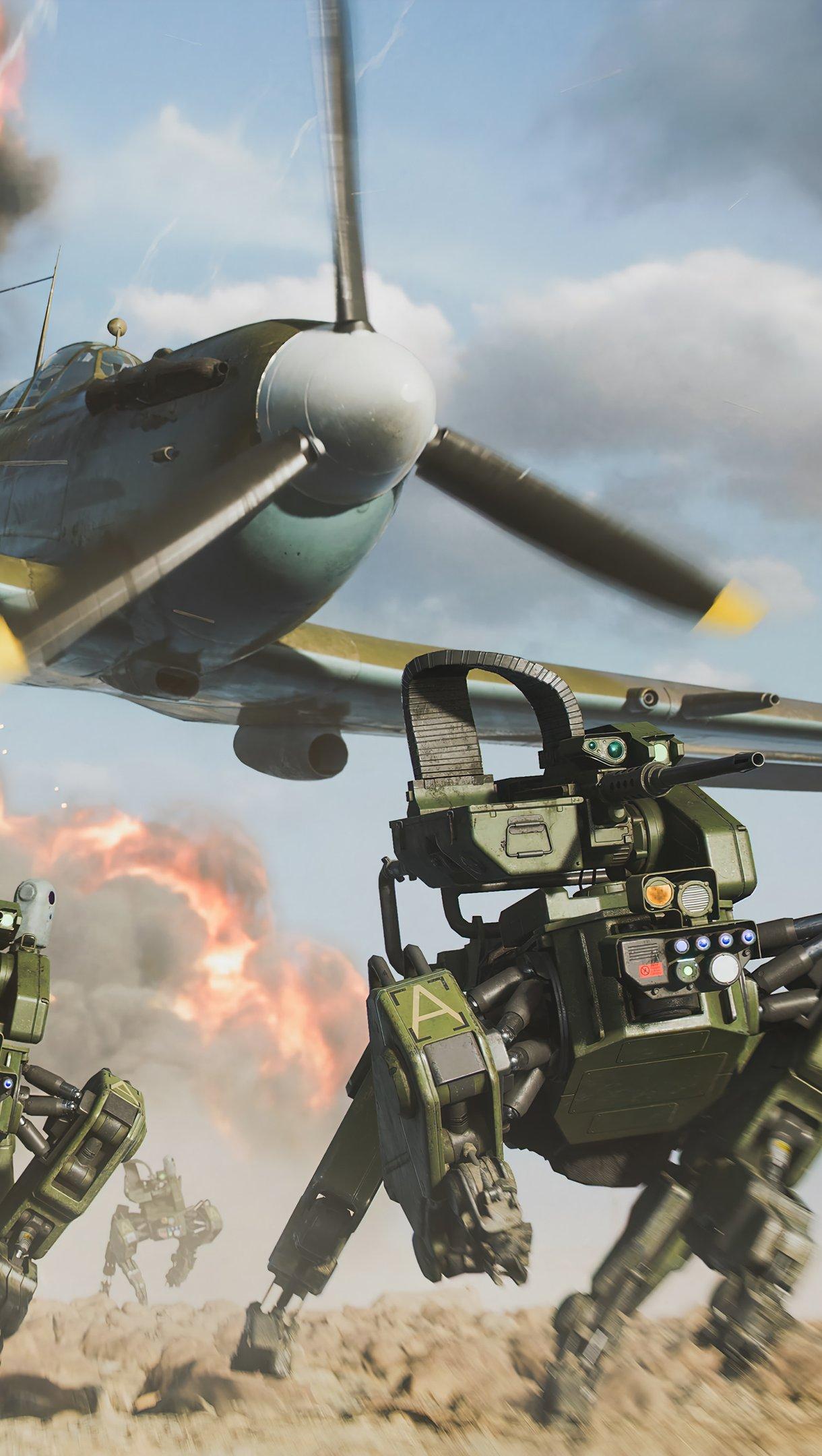 Wallpaper Robot Dog in Battlefield 2042 Vertical