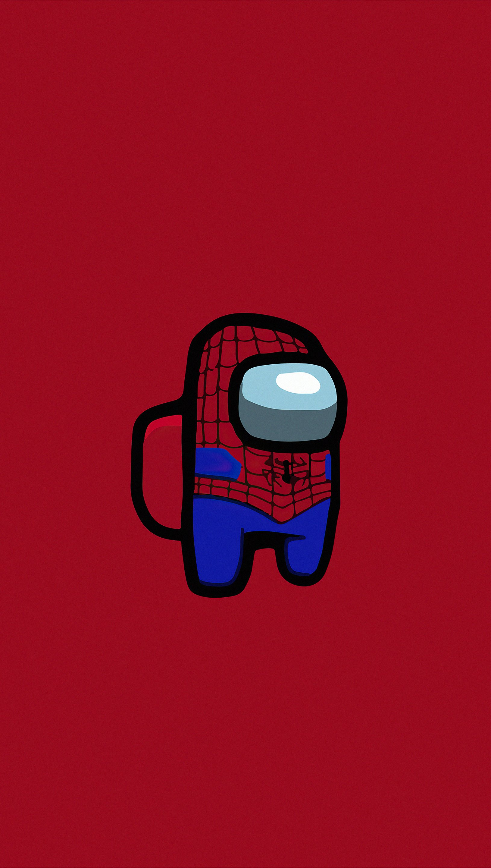 Fondos de pantalla Personaje de Among us como Spider Man Vertical