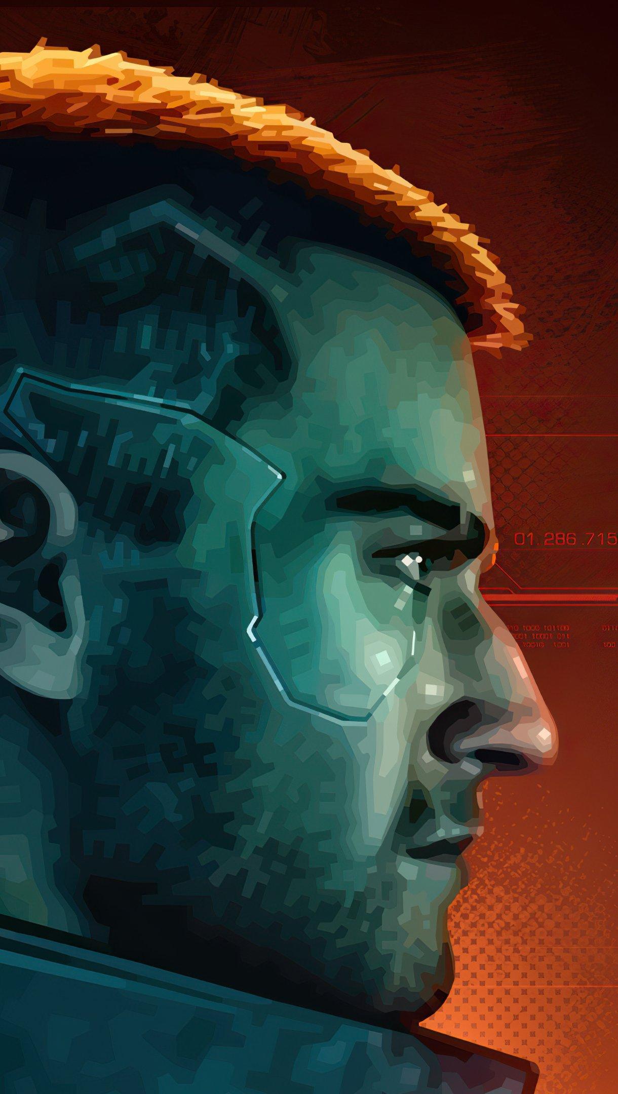 Wallpaper Character from Cyberpunk 2077 Vertical