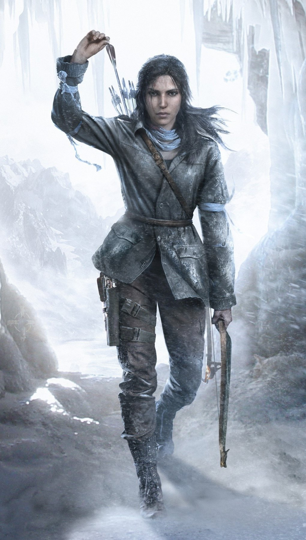 Wallpaper Rise of the Tomb Raider character Vertical