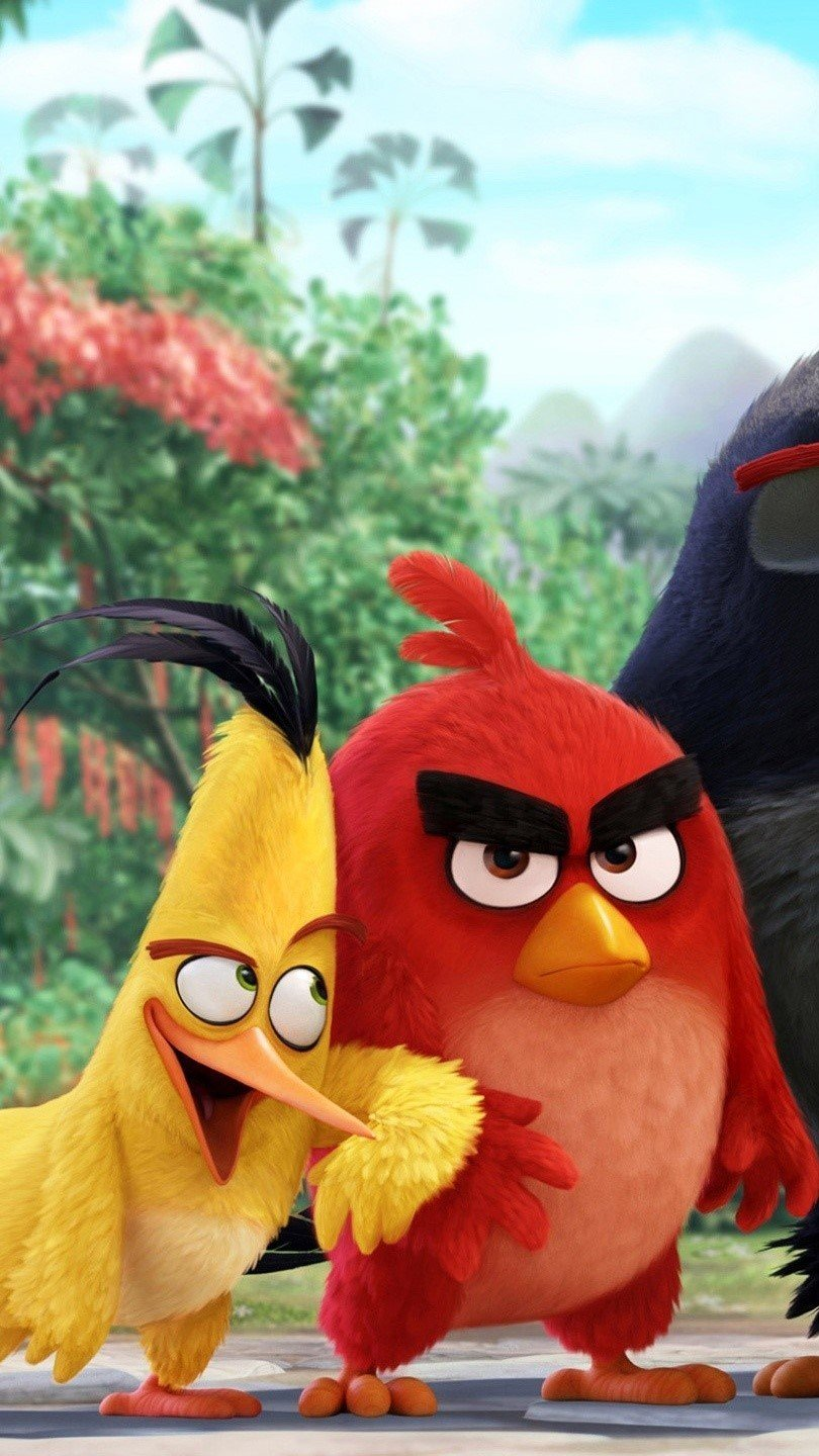 Wallpaper Angry Birds characters Vertical