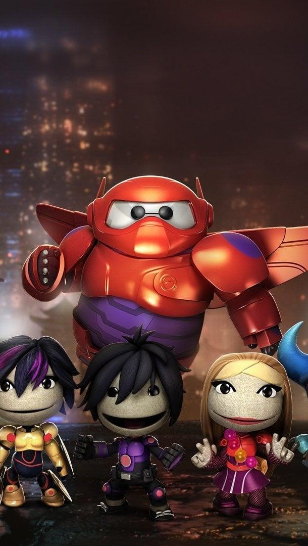 Wallpaper Big Hero characters like Littlebigplanet Vertical