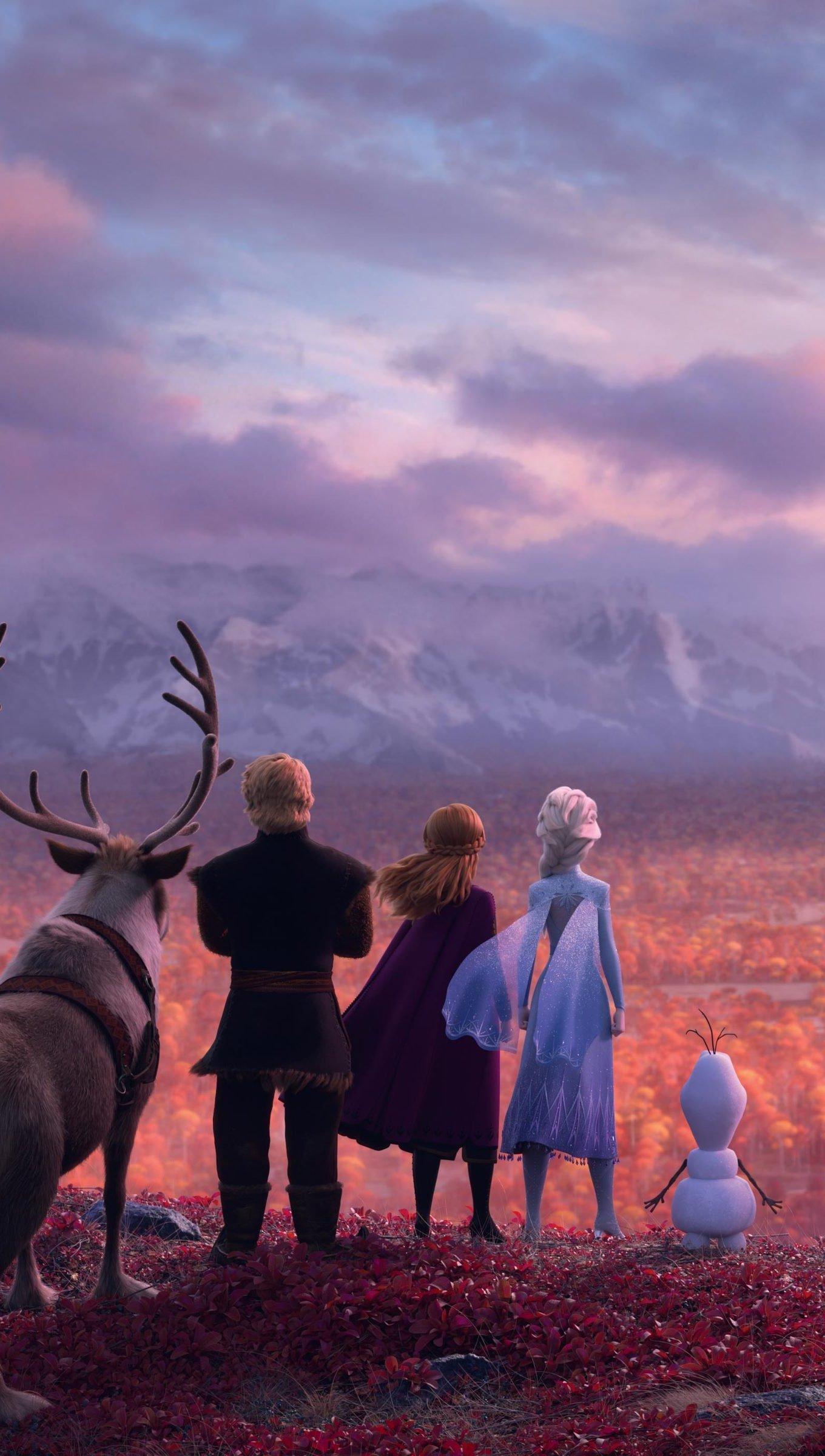 Wallpaper Frozen characters Vertical