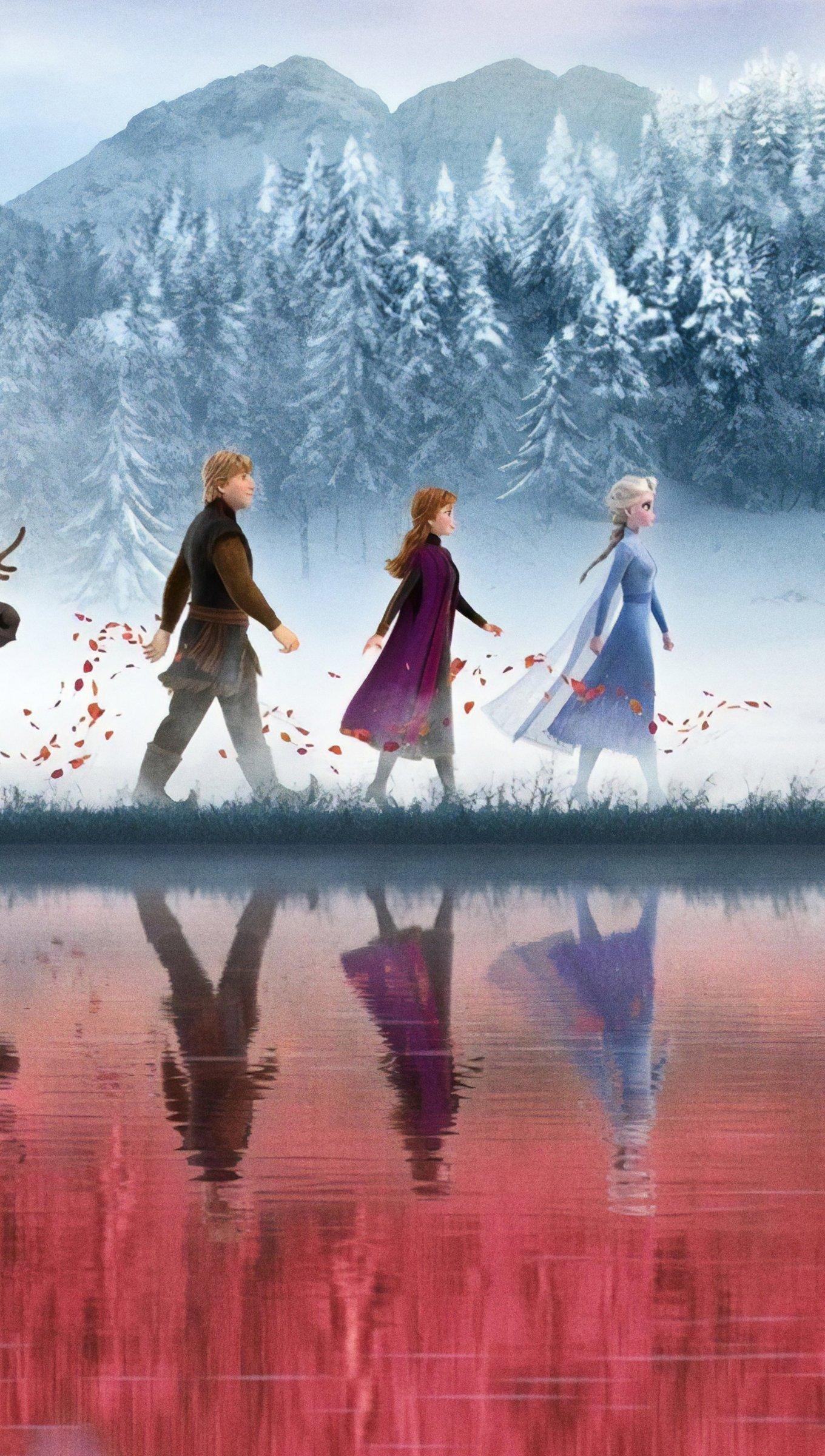 Wallpaper Characters from Frozen walking Vertical