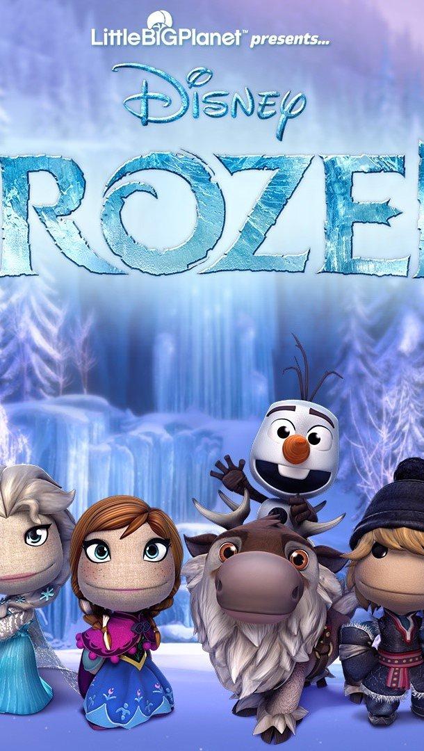 Wallpaper Characters of Frozen in Littlebigplanet Vertical