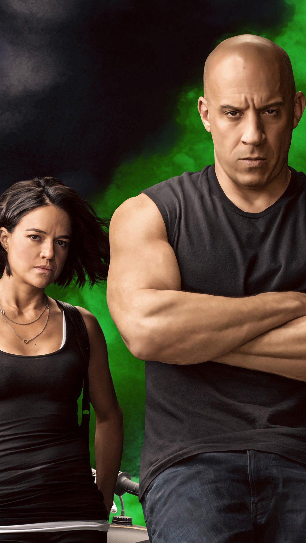 Wallpaper Characters from Fast and Furious 9 Vertical