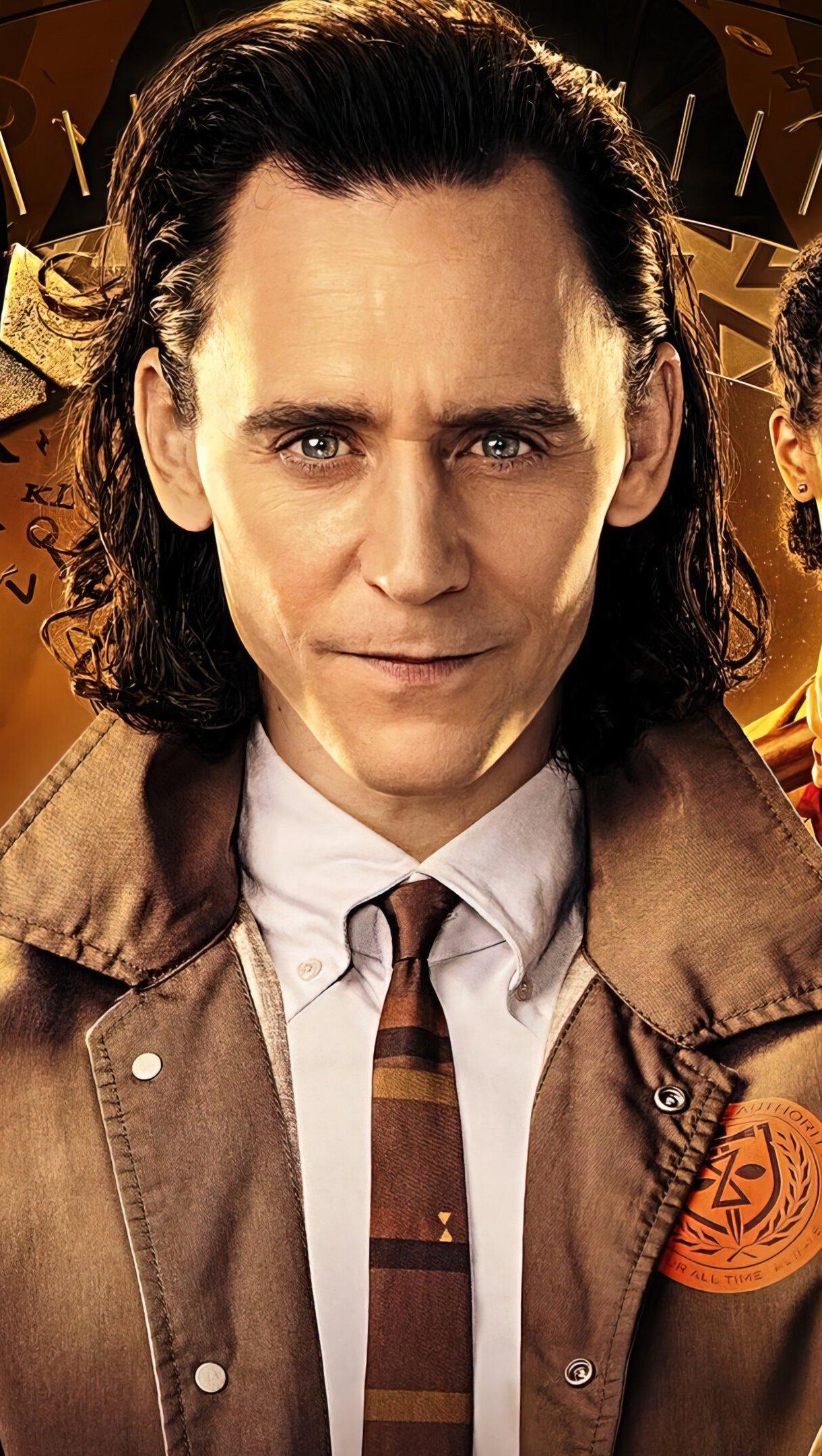 Wallpaper Loki series characters Vertical