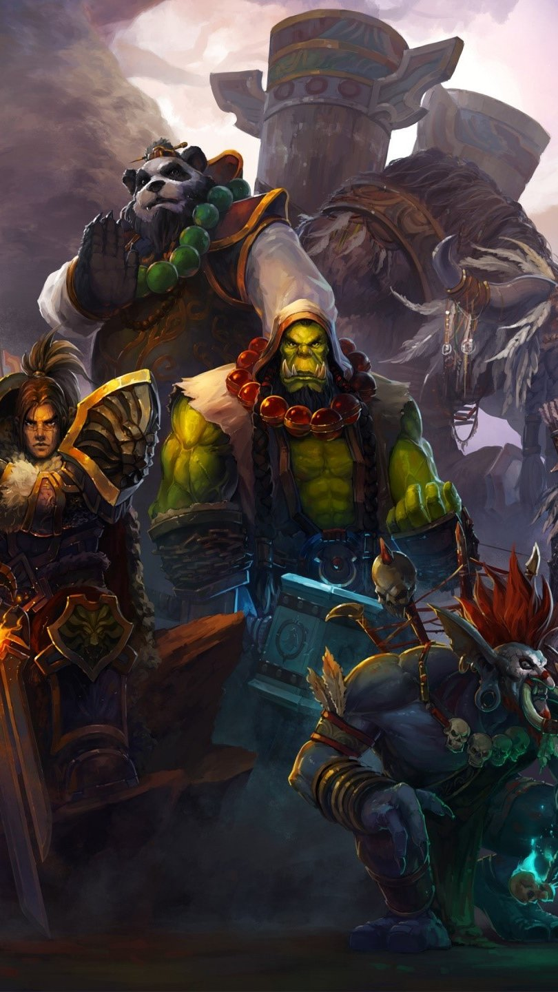 Wallpaper World of warcraft characters Vertical