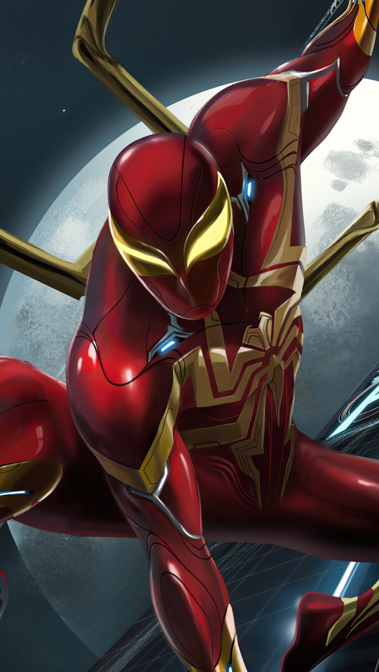 Fondos de pantalla Peter Parker Iron Spider Vertical