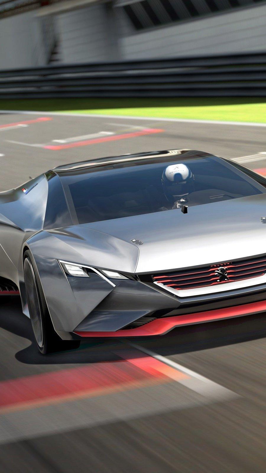 Wallpaper Peugeot Vision in Gran Turismo Vertical