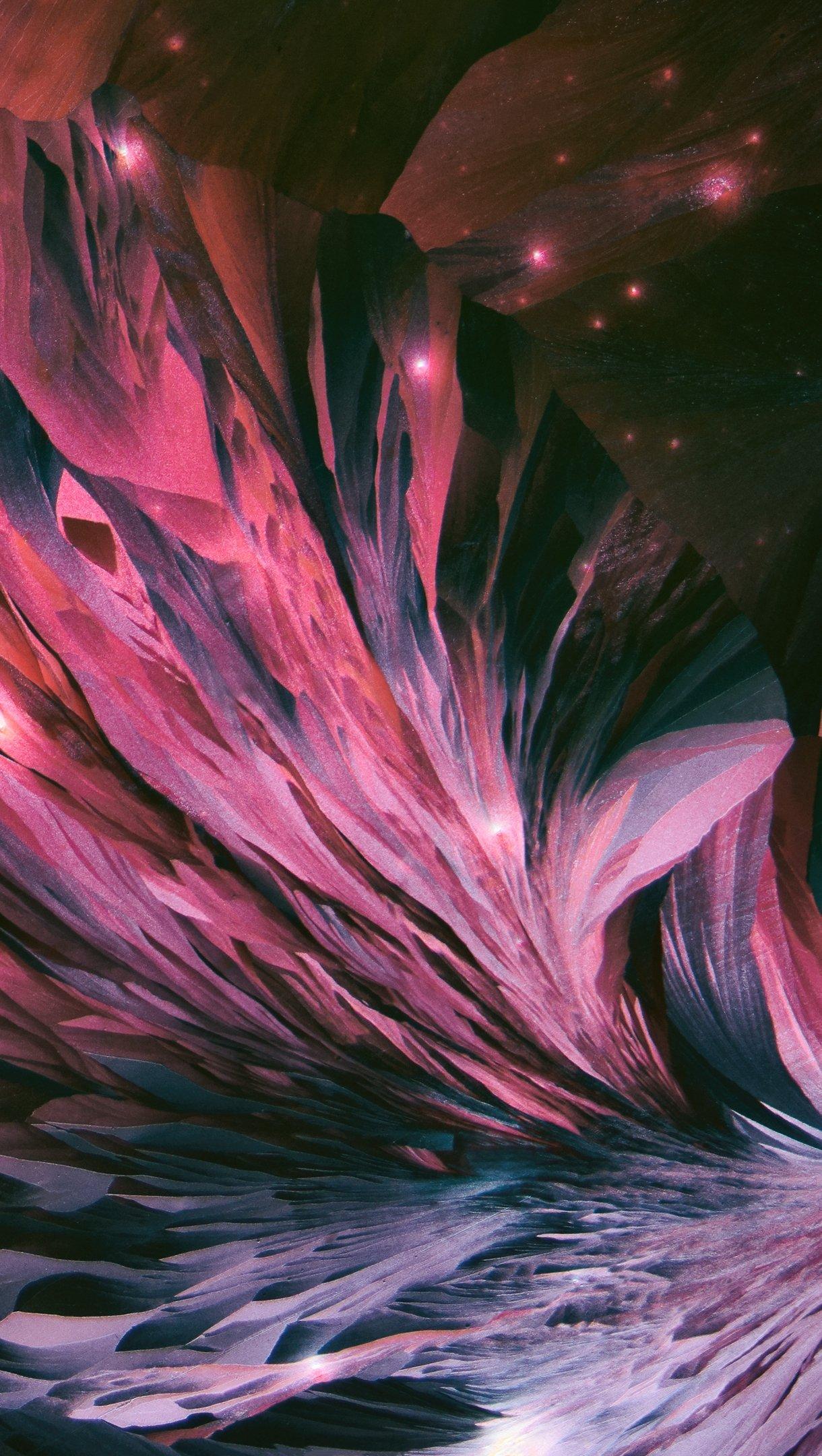 Fondos de pantalla Piedra preciosa rubi Abstracto Vertical