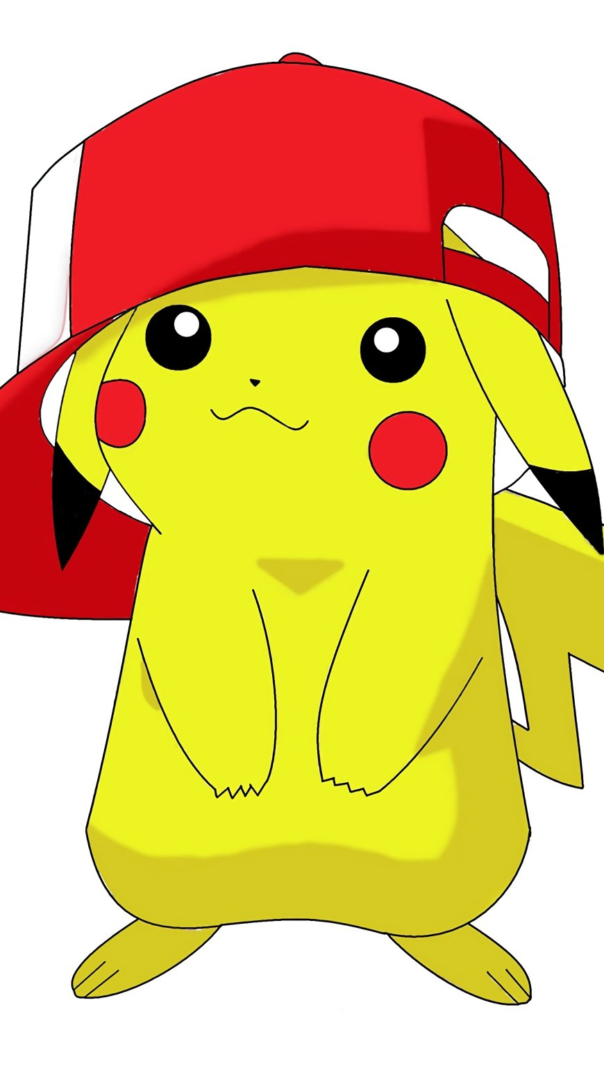 Anime Wallpaper Pikachu with cap Vertical