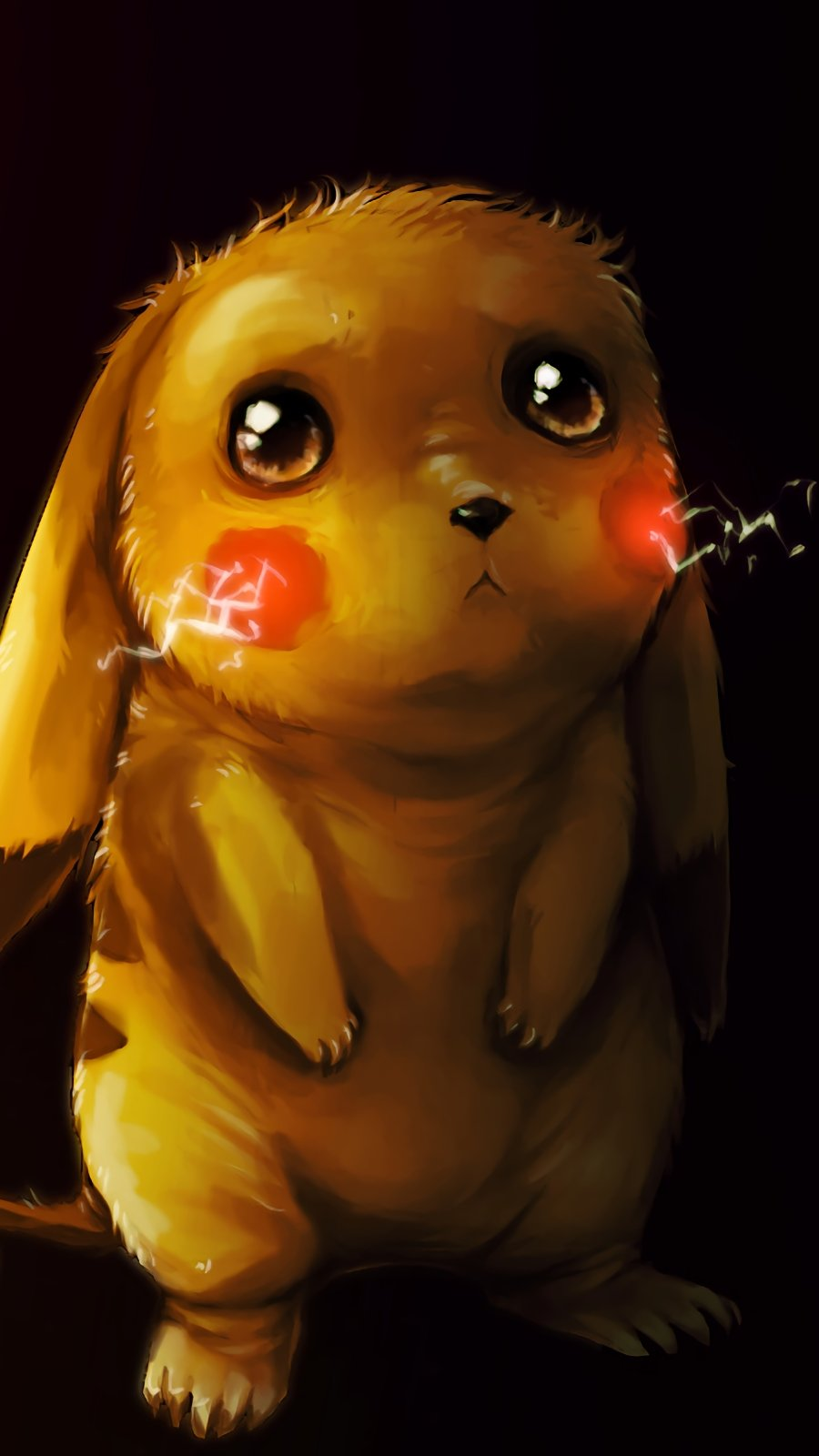 Anime Wallpaper Sad Pikachu fanart Vertical