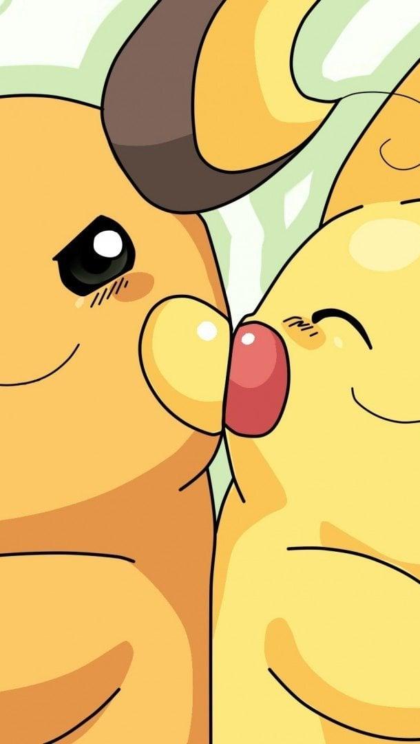 Fondos de pantalla Pikachu y Raichu Vertical