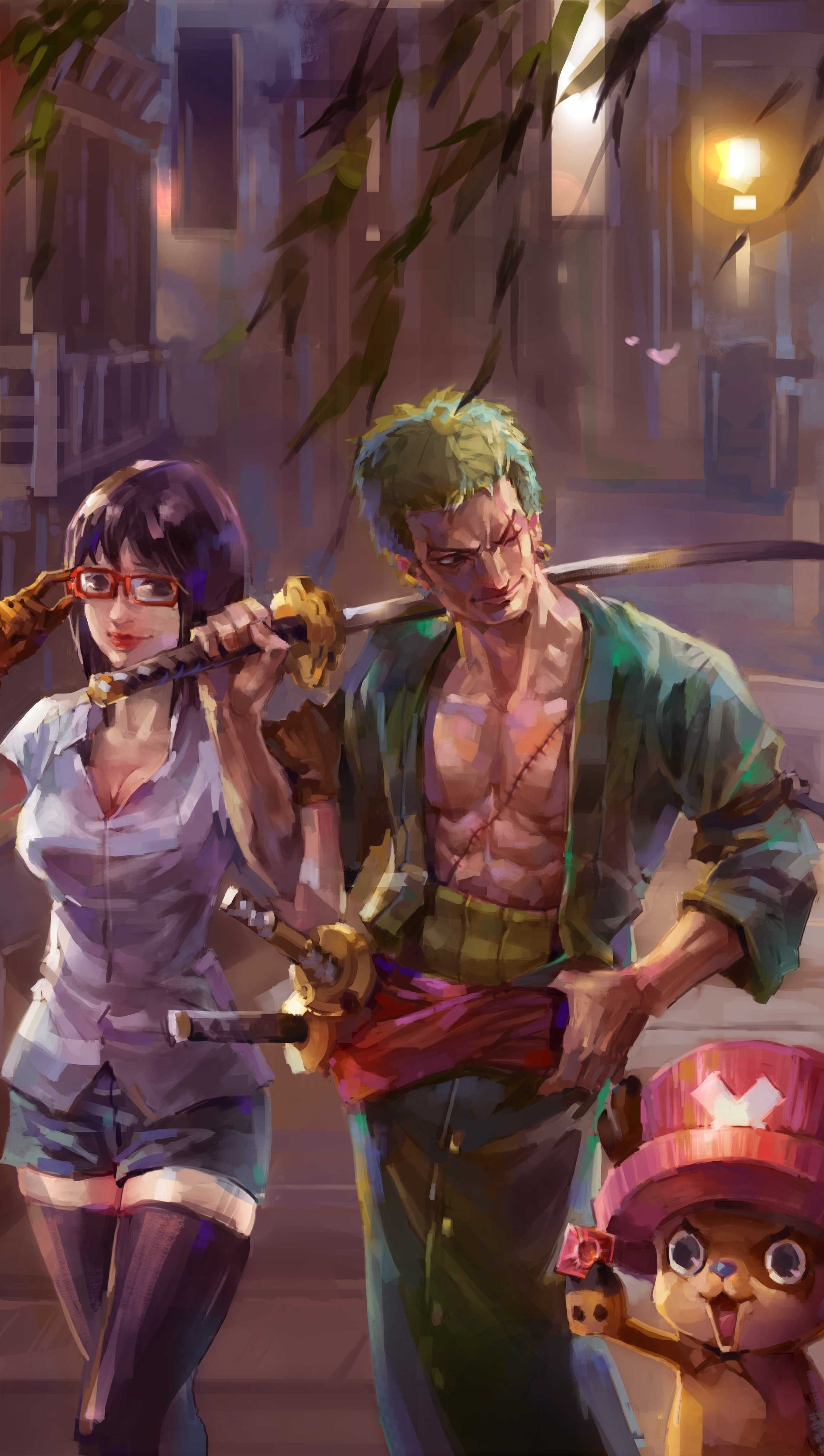 Anime Wallpaper One Piece Painting Vertical