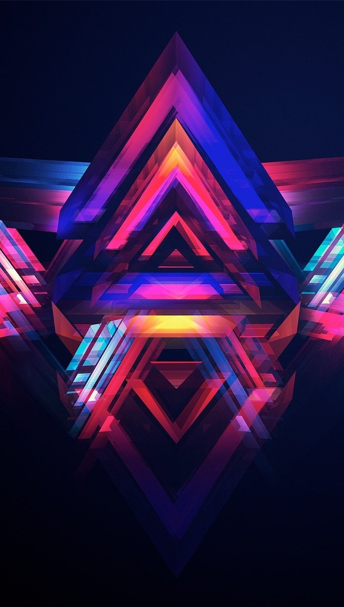 Wallpaper Abstract pyramids Vertical