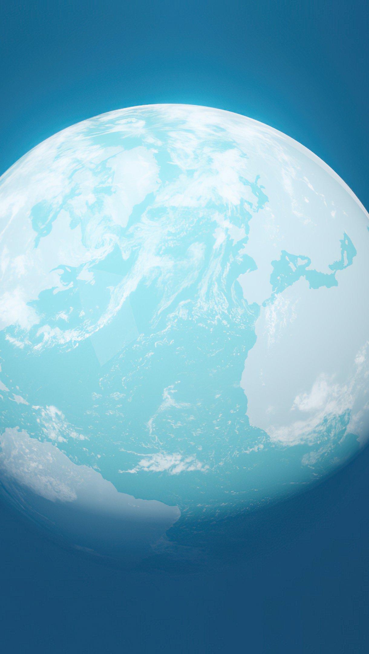 Wallpaper Blue planet Vertical