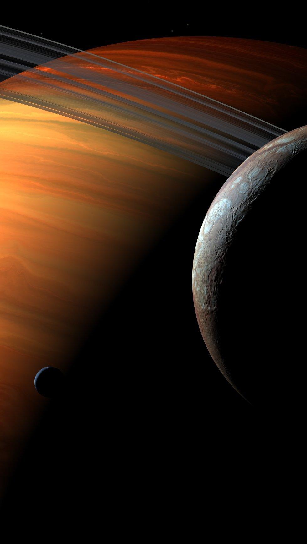 Fondos de pantalla Planeta con anillo Vertical