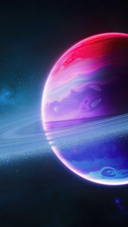 Fondos de pantalla Planeta con aro Vertical