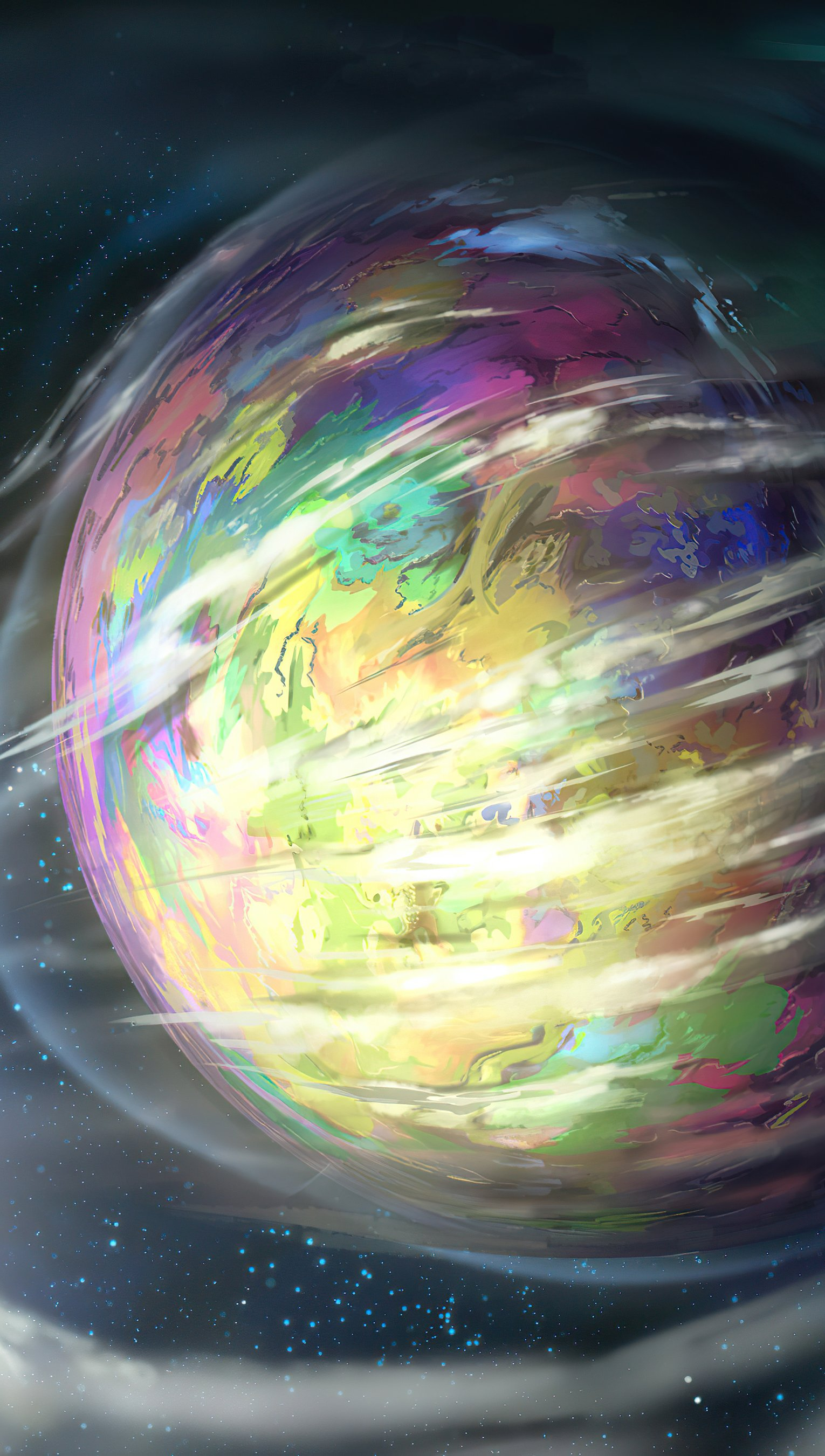 Fondos de pantalla Planeta con gases alrededor Vertical