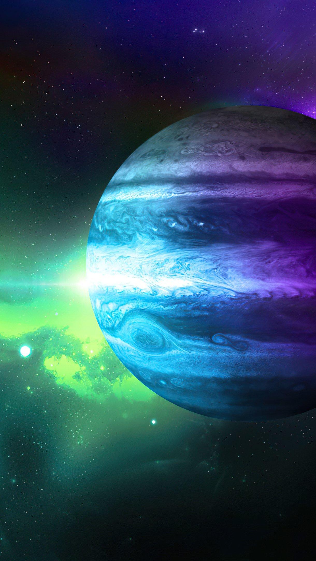 Wallpaper Planet in galaxy Vertical