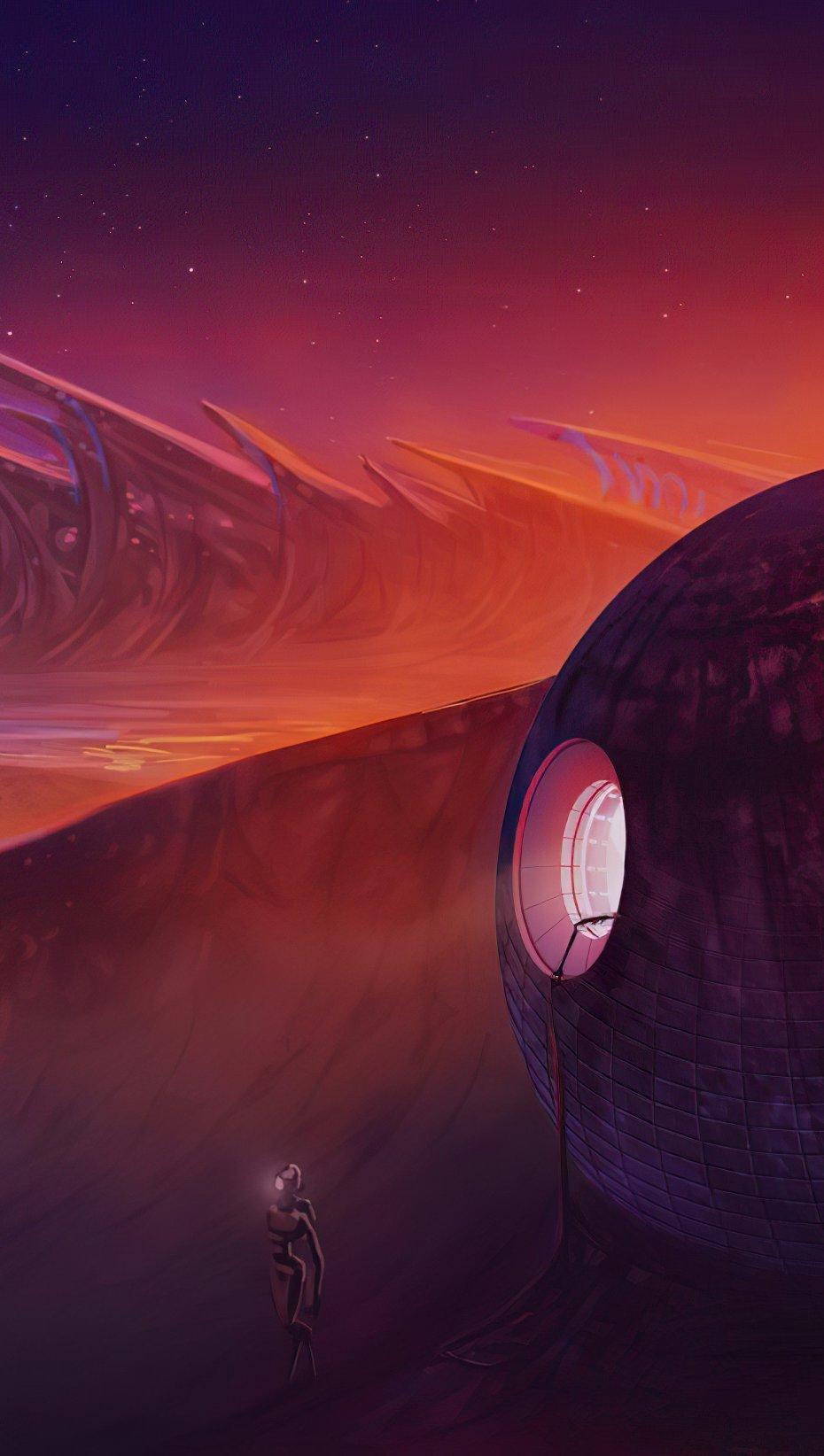 Fondos de pantalla Planeta extraño Vertical