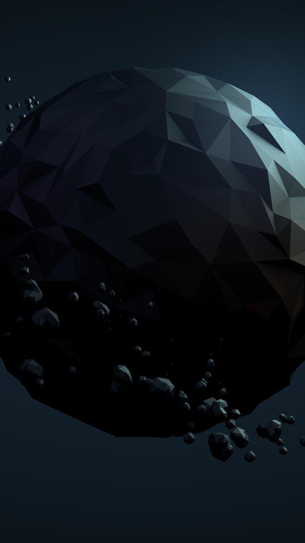 Fondos de pantalla Planeta poligonal Low poly Vertical