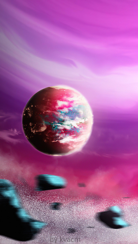 Fondos de pantalla Planeta rosa Vertical