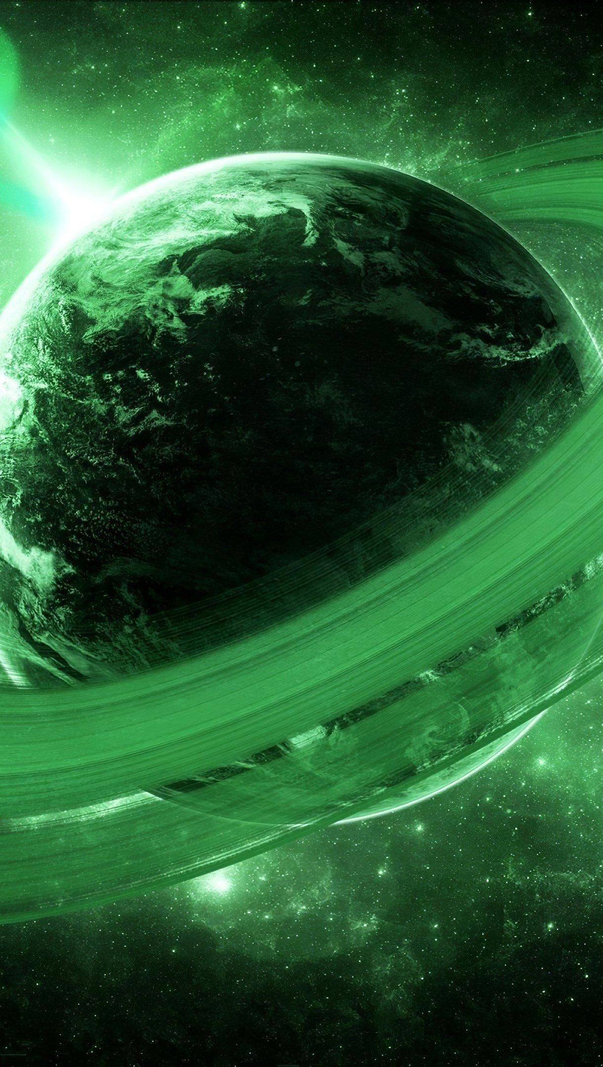 Fondos de pantalla Planeta Verde Vertical