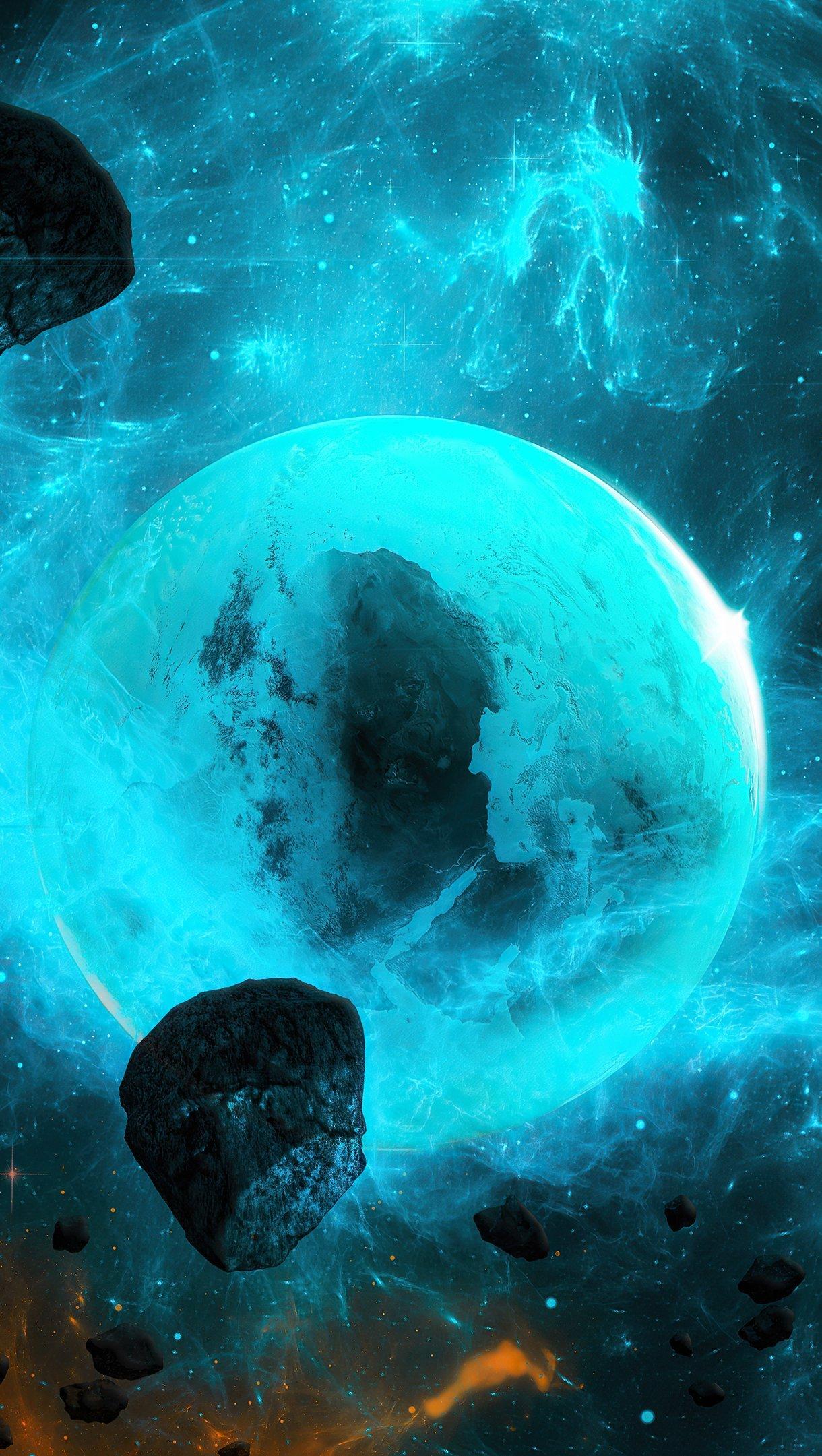 Wallpaper Planets Vertical