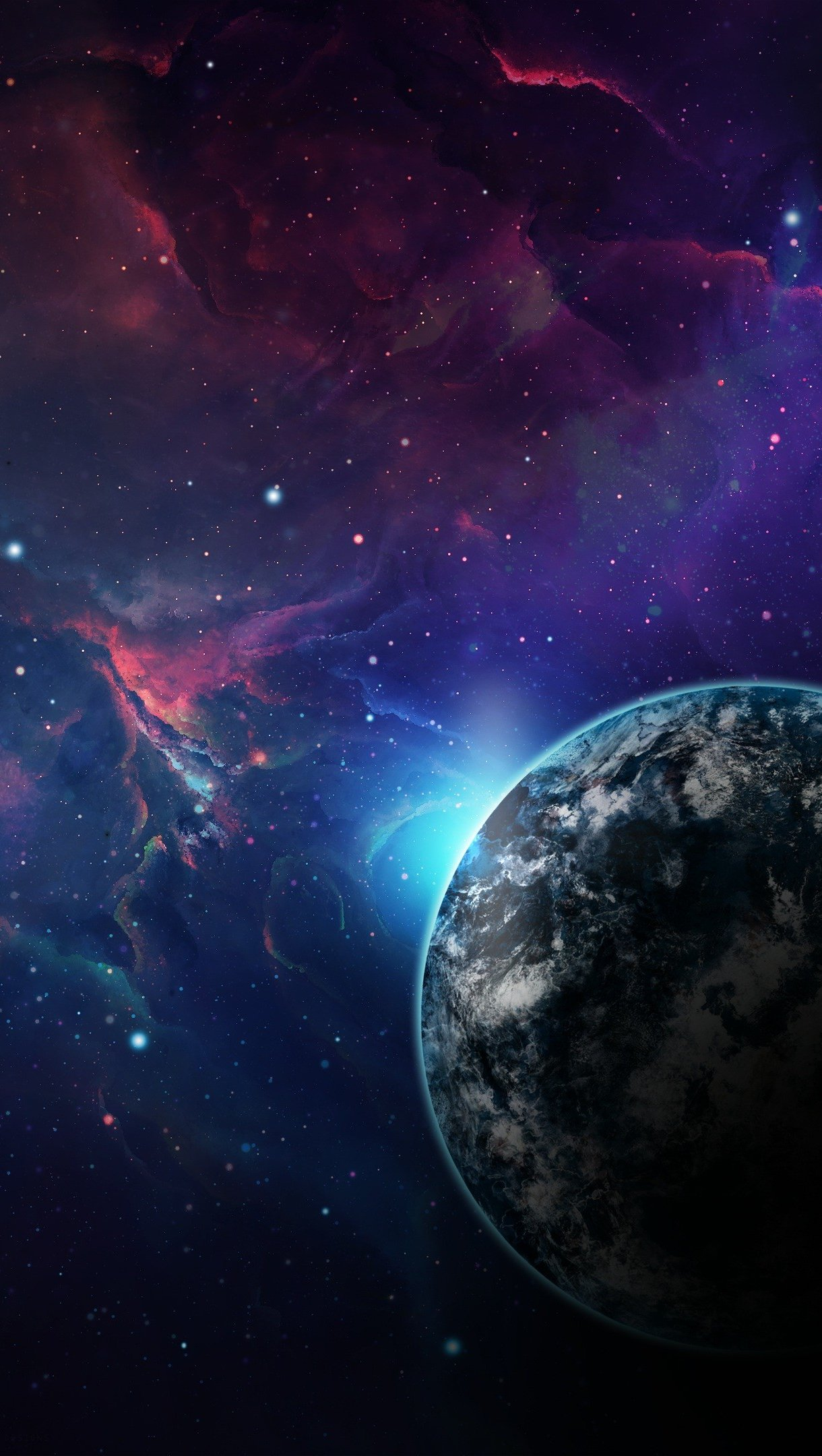 Wallpaper Planets in space Vertical