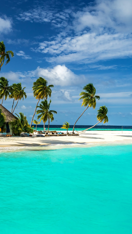 Wallpaper Beach in Maldives Vertical
