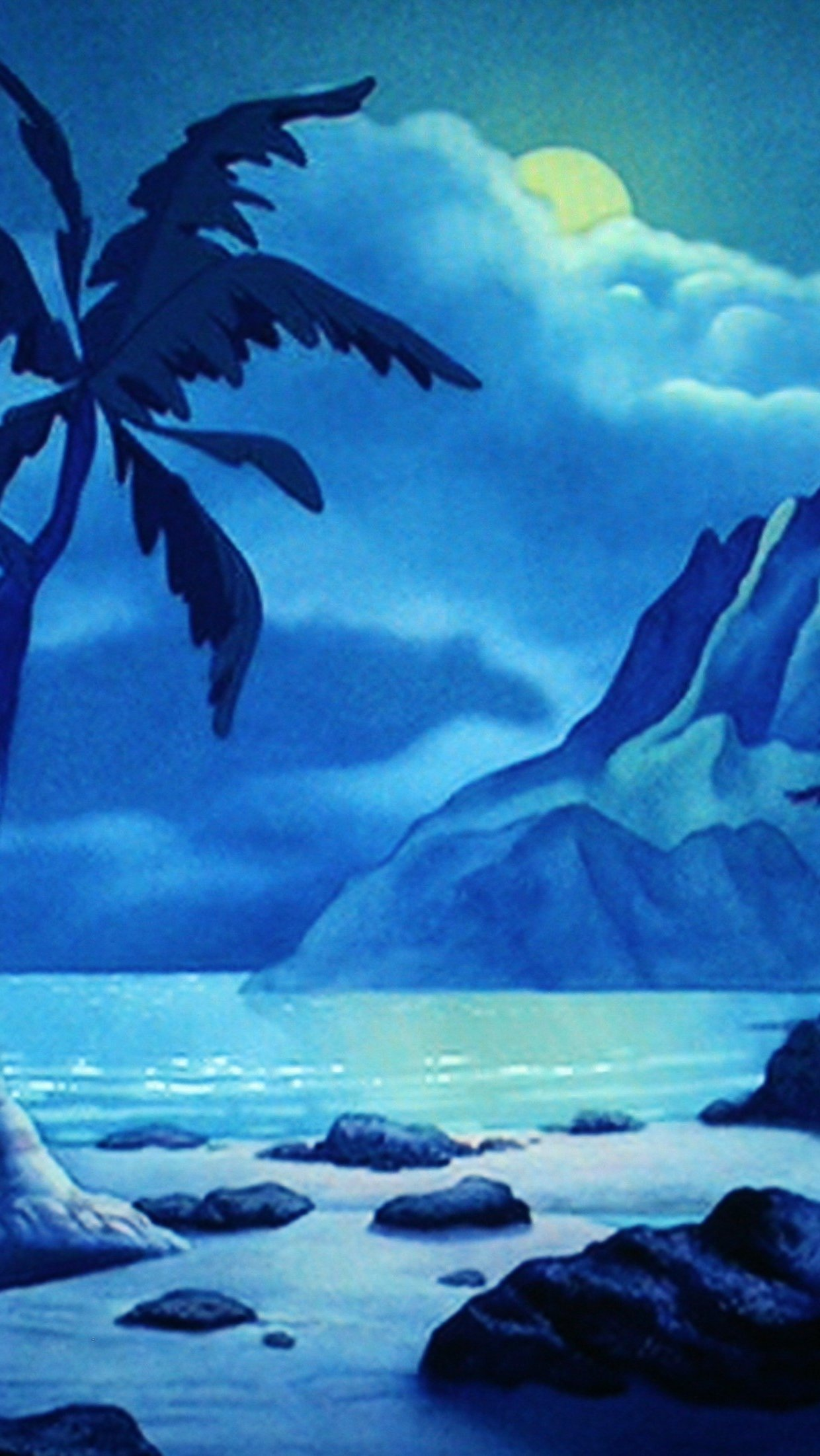 Wallpaper Stage Beach of Lilo and Stitch Vertical