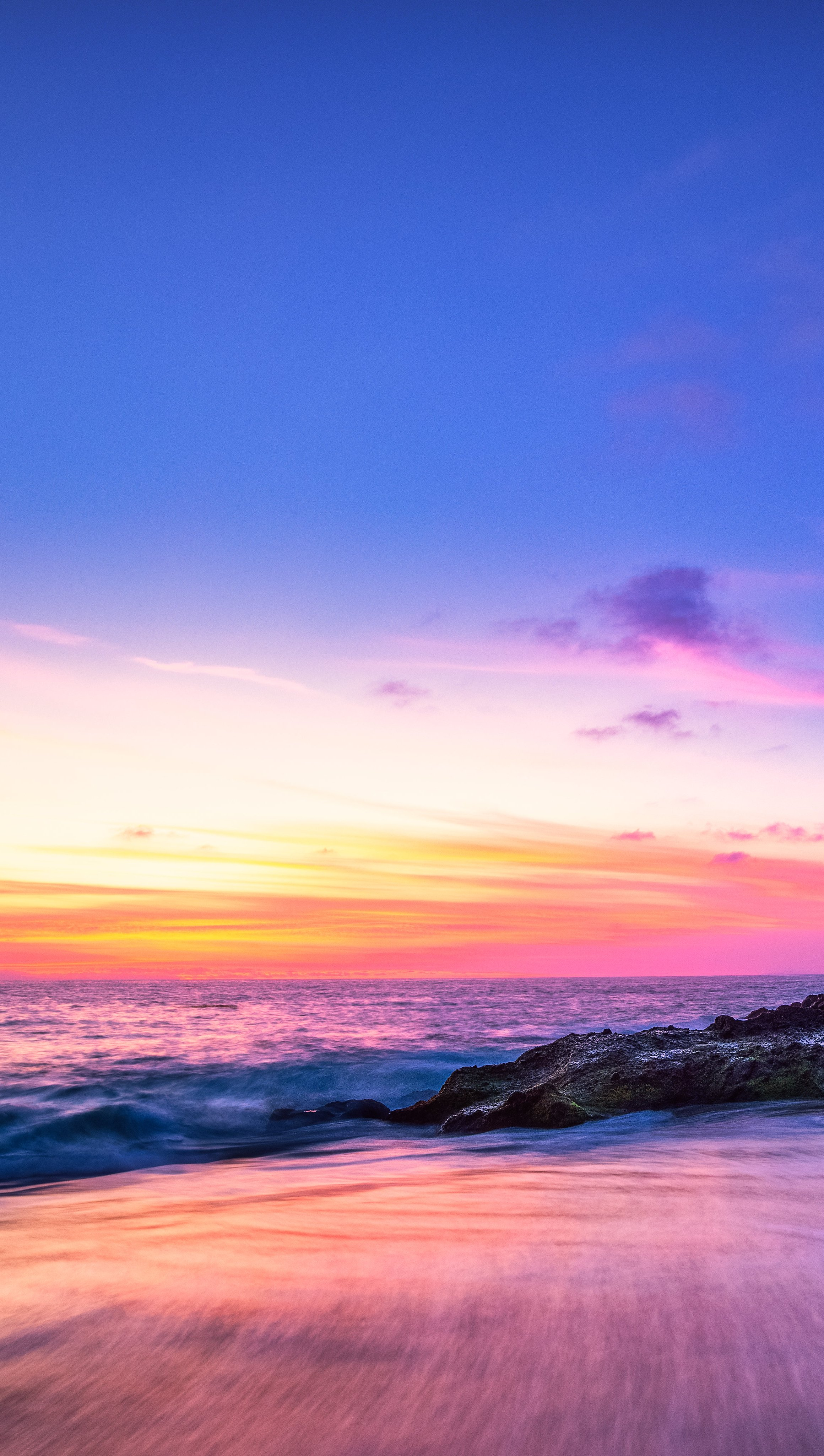 Fondos de pantalla Playa Laguna al atardecer Vertical
