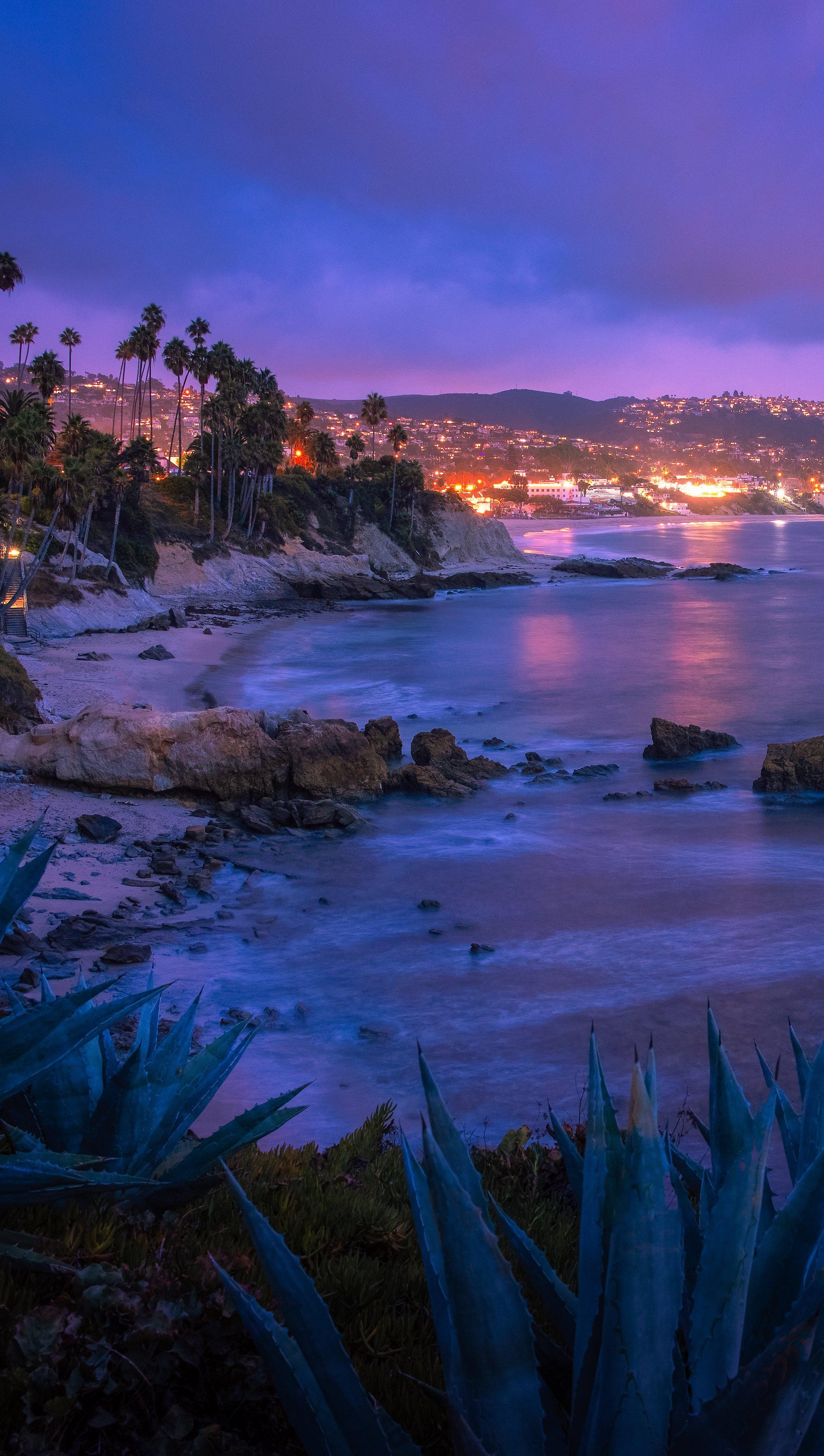Fondos de pantalla Playa Laguna en Orange County Vertical