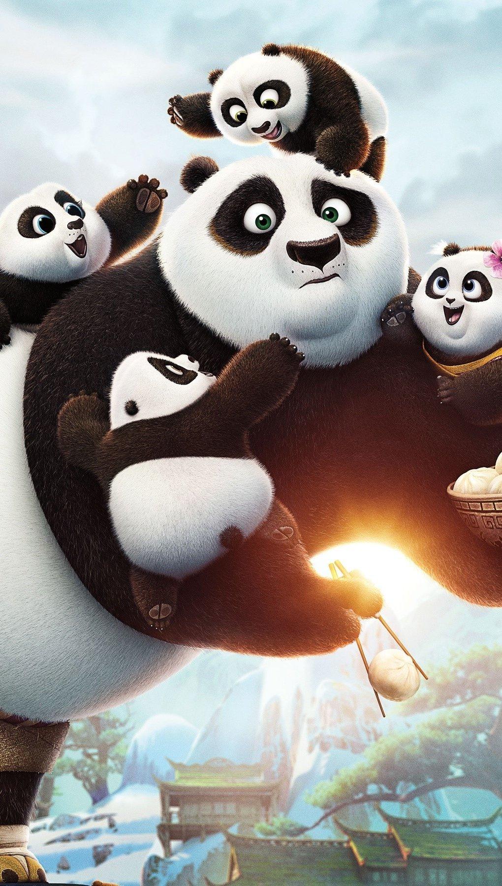 Wallpaper Po of Kung Fu Panda 3 Vertical