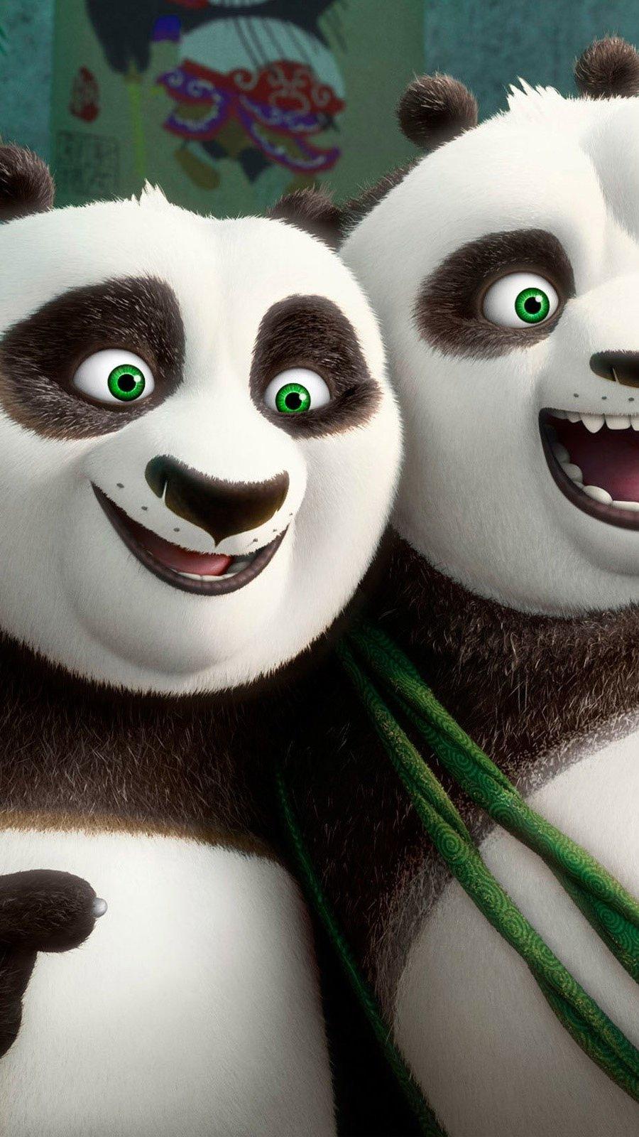 Fondos de pantalla Po y Li en Kung fu panda 3 Vertical