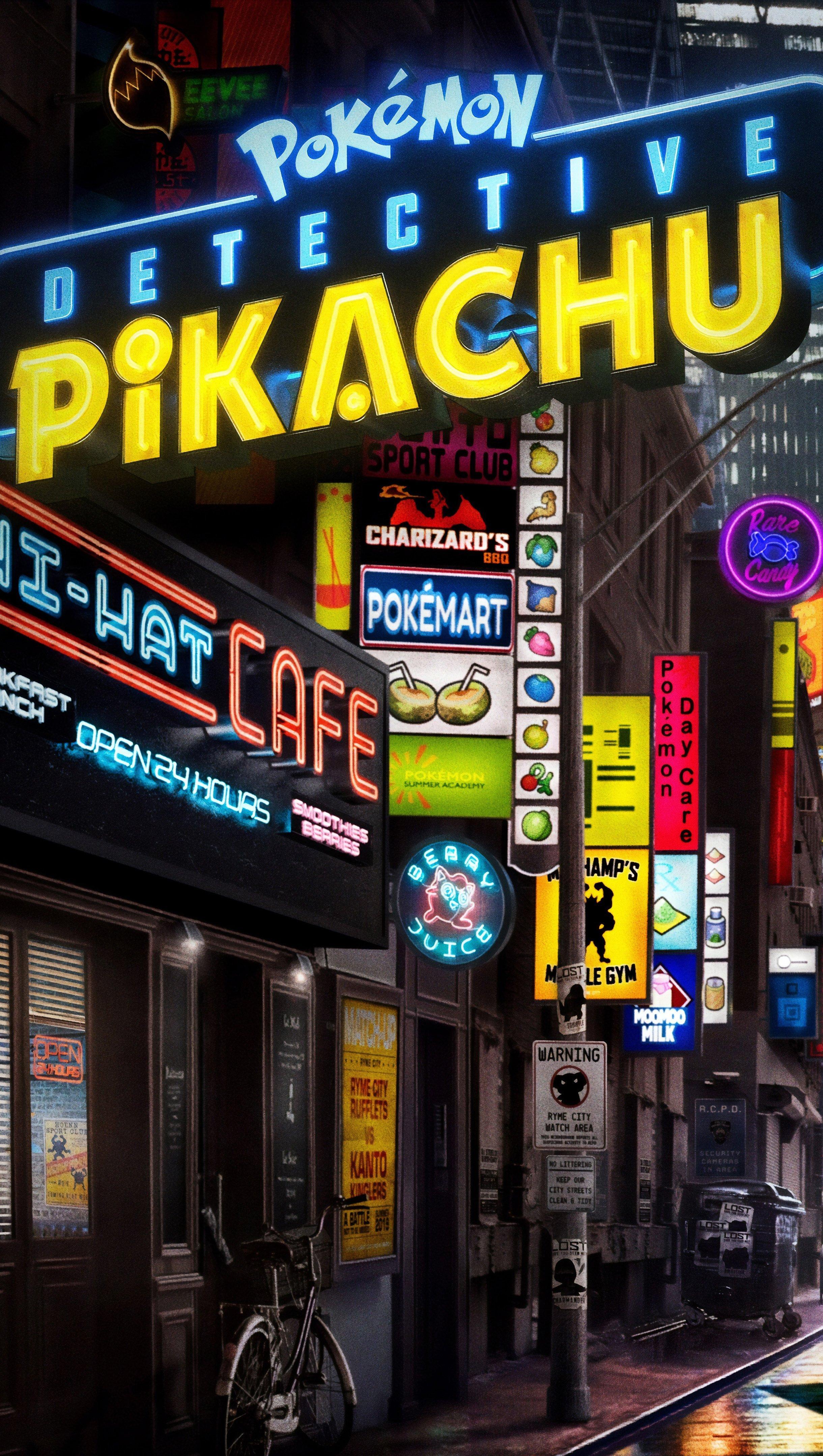 Wallpaper Pokémon: Detective Pikachu Vertical